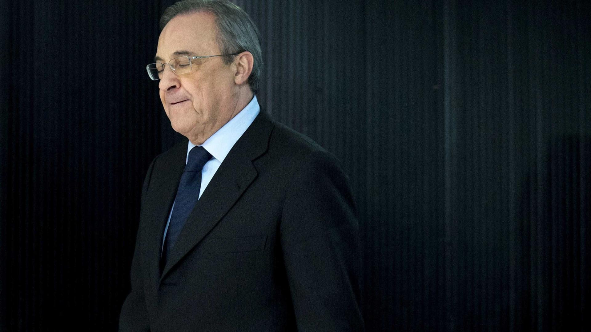 """Florentino Pérez: """"Até a campa da minha mulher pintaram"""""""