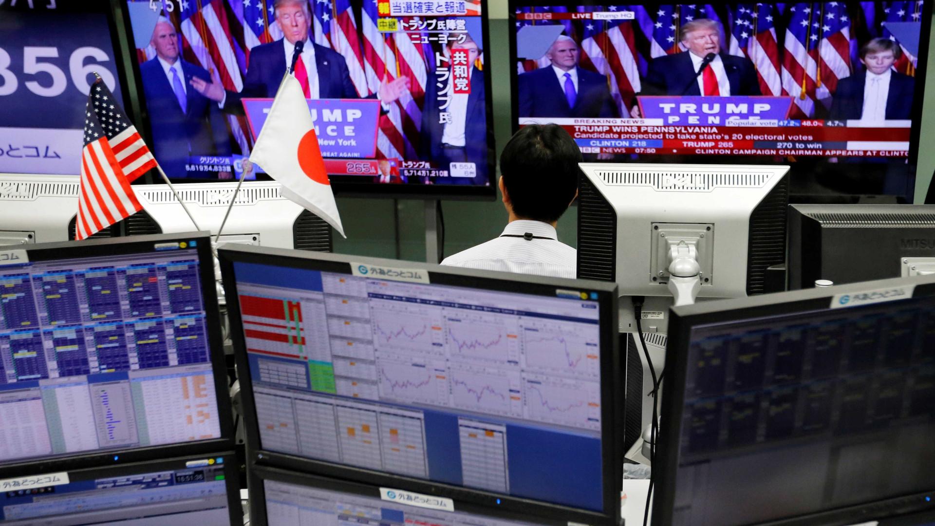 China e Japão 'voam' no início da semana