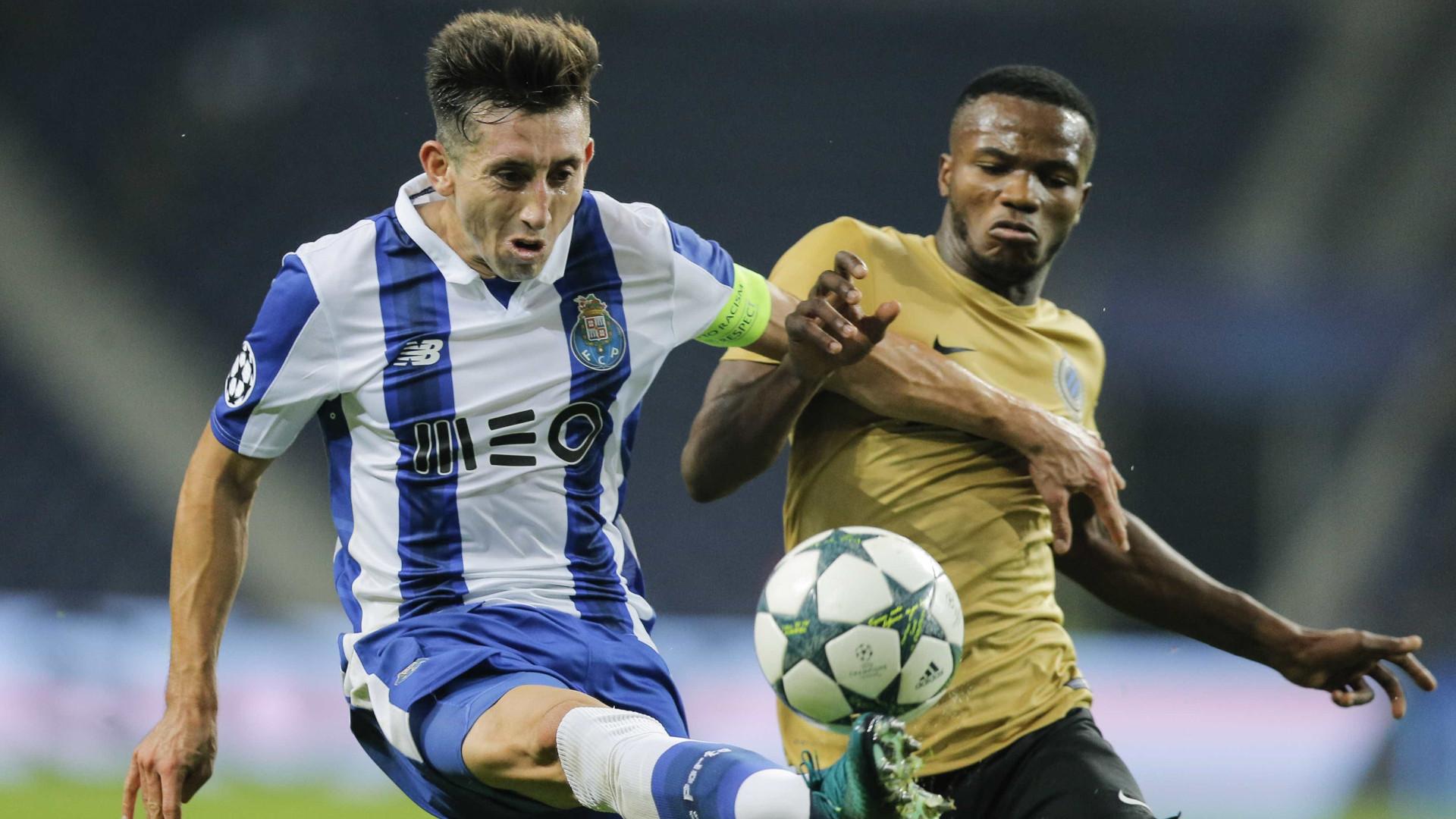 Herrera regressa aos treinos do FC Porto