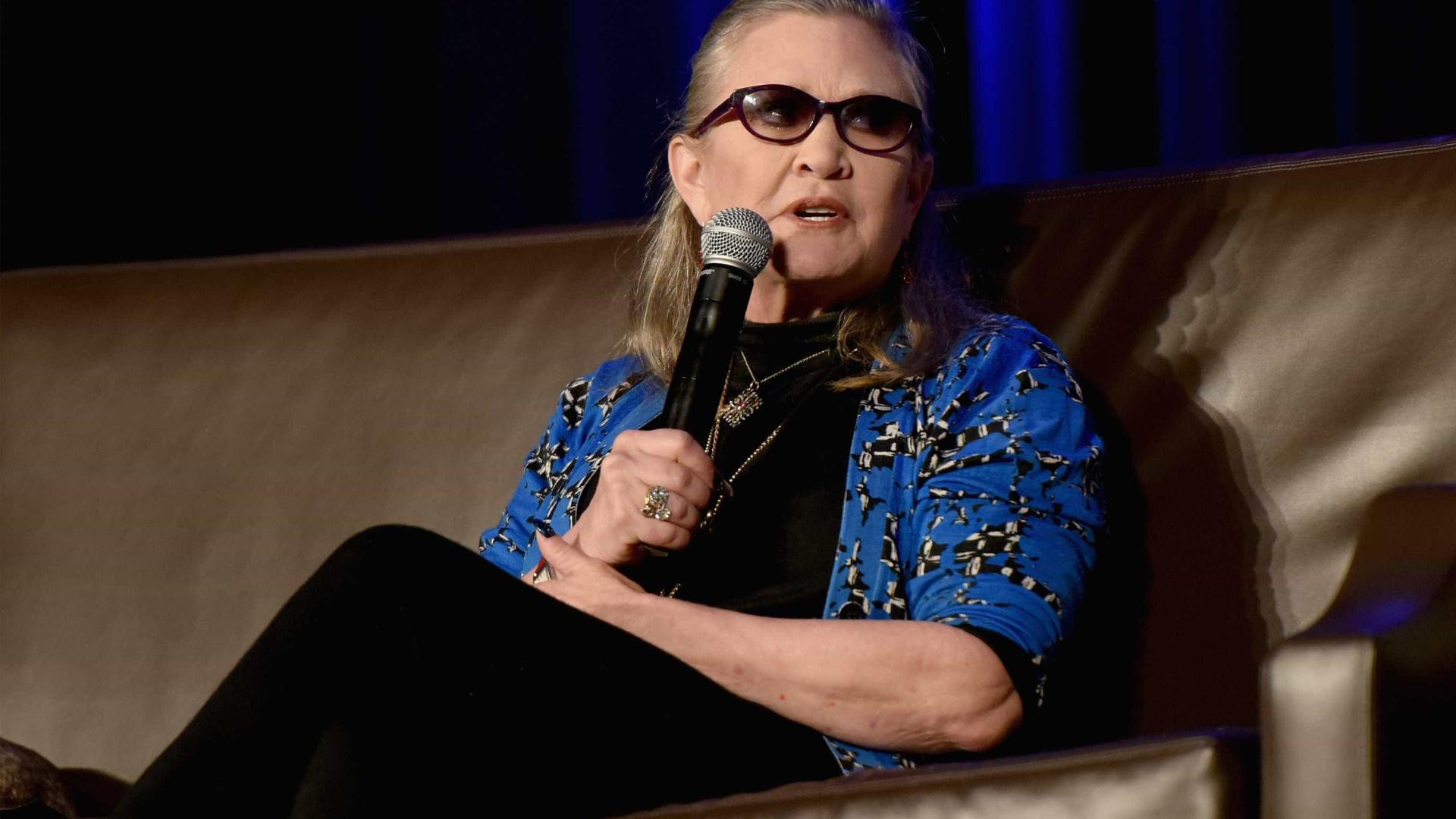 Carrie Fisher revela mais pormenores de caso com Harrison Ford
