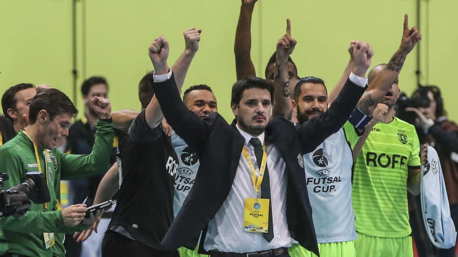 Sporting de partida para a UEFA Futsal Cup com a ambição em alta