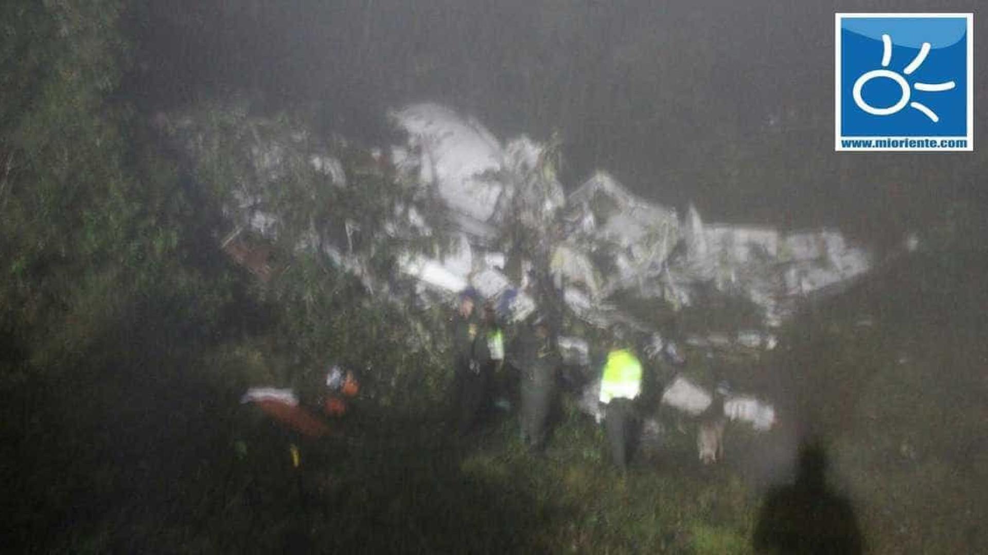 Autoridades confirmam 25 corpos resgatados na queda de avião na Colômbia