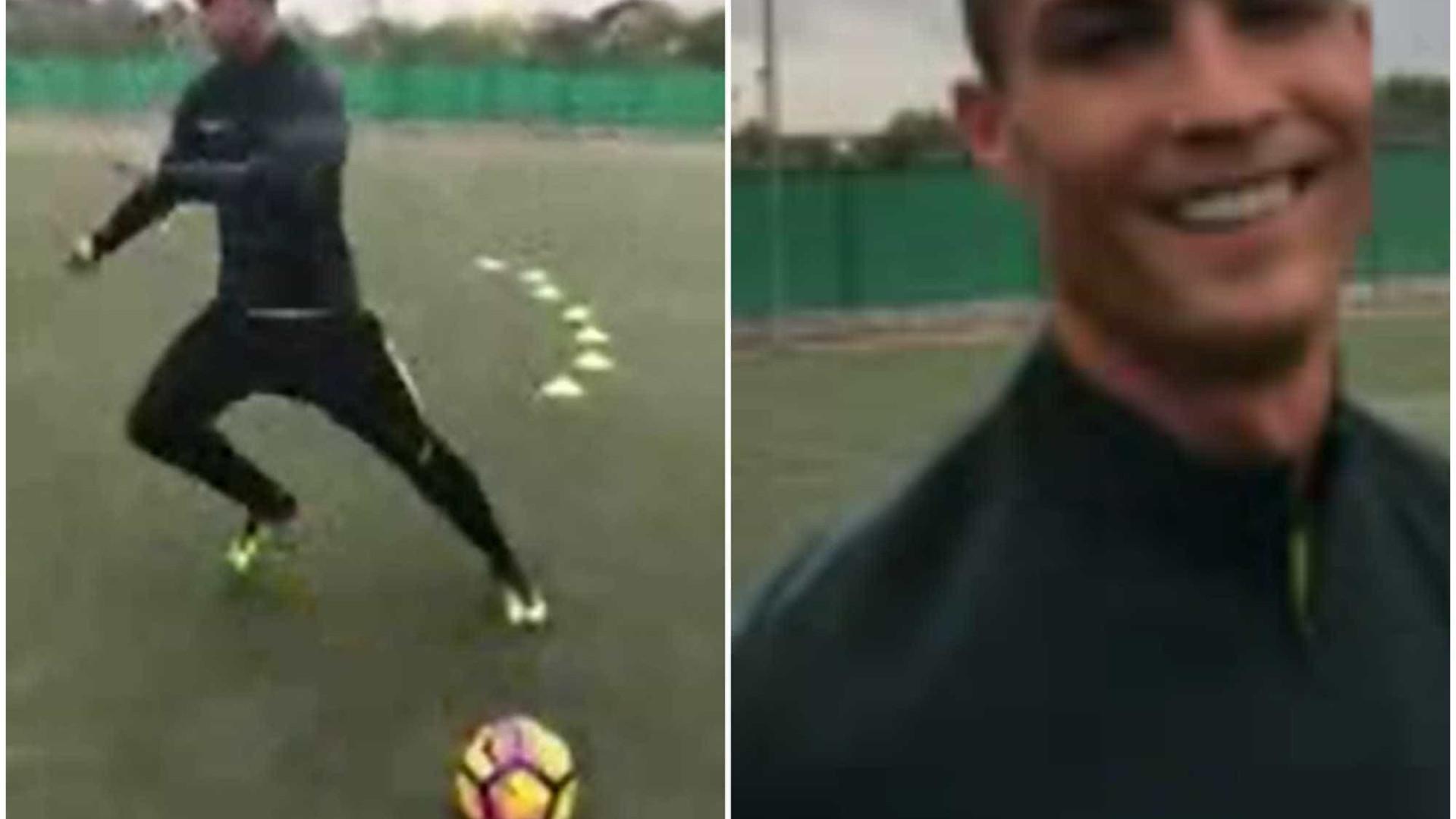 """Cristiano Ronaldo partilha os segredos do seu treino para o """"El Clásico"""""""