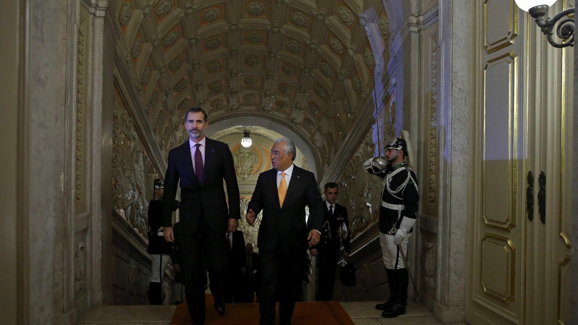 Costa diz a Filipe VI que cooperação transfronteiriça é prioridade