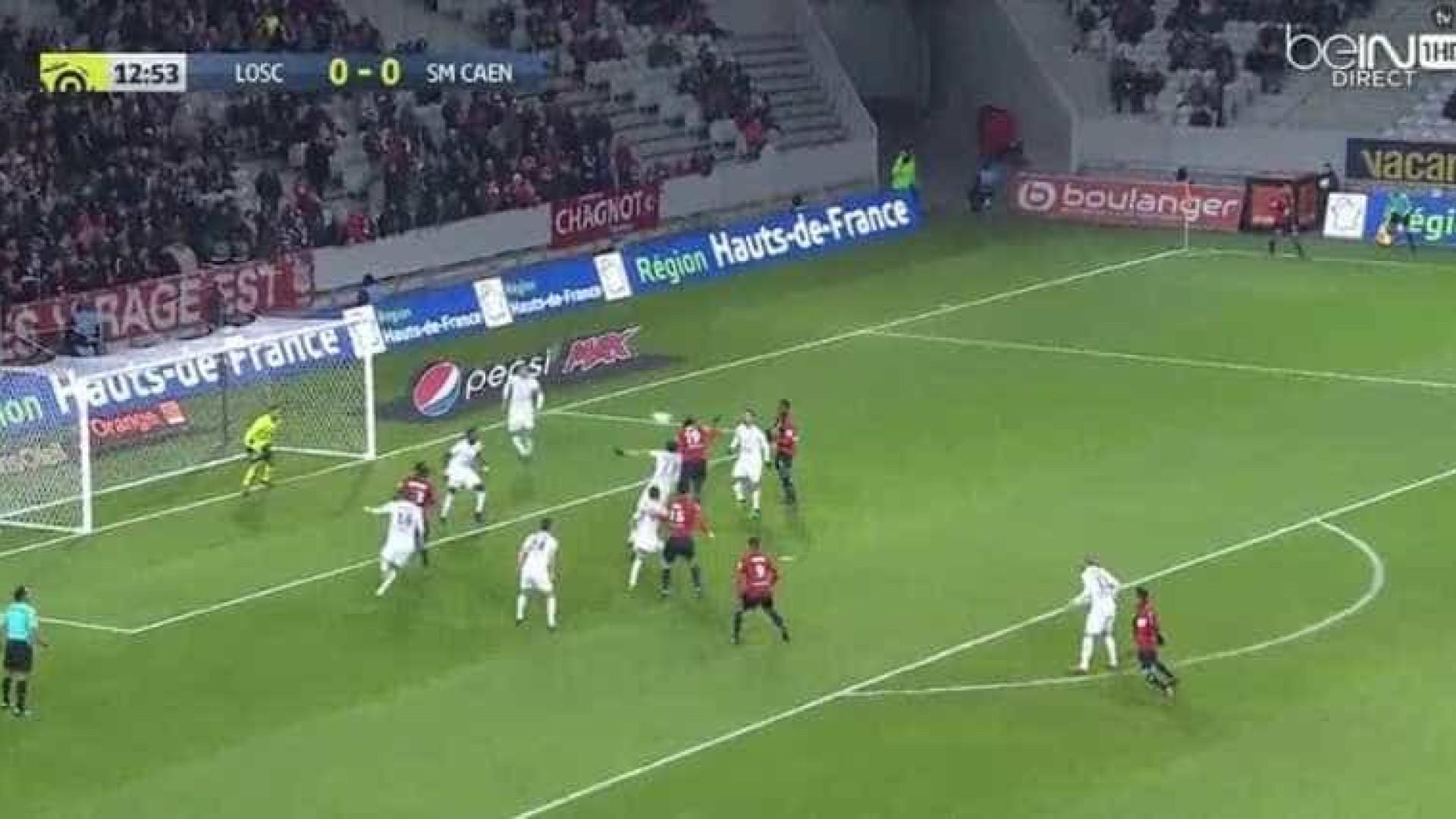 Éder foi ao primeiro andar e marcou o primeiro golo na vitória do Lille
