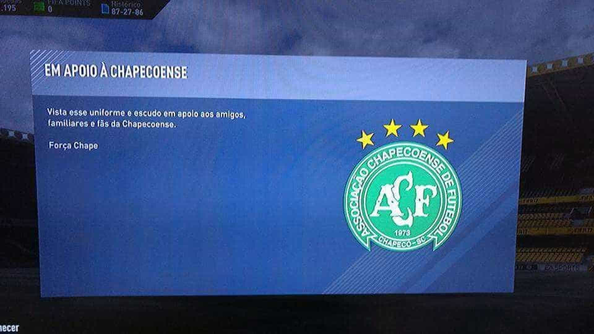 FIFA: EA Sports homenageia Chapecoense e liberta kit e emblema da equipa