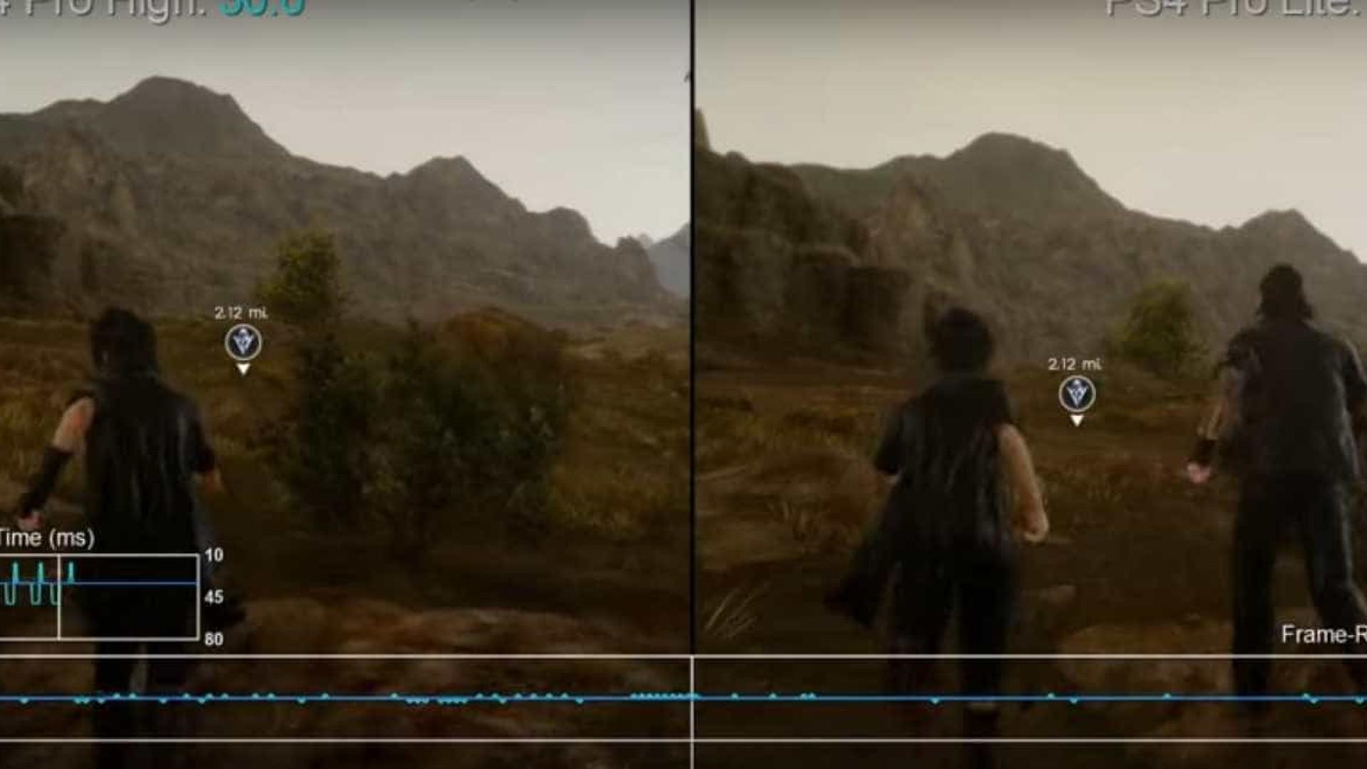 Final Fantasy XV apresenta melhores resultados na PS4 do que na PS4 Pro