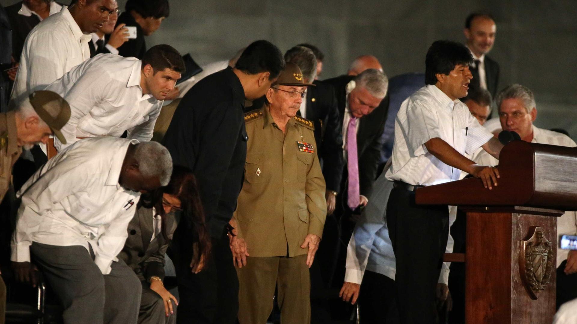 """Presidente da Bolívia sobre Fidel: """"Quem me irá ensinar?"""""""