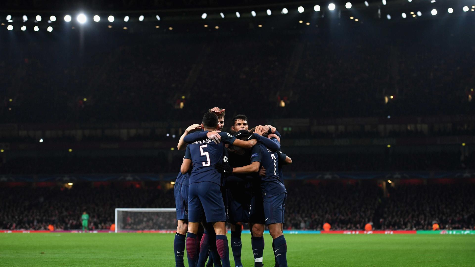 PSG e Nice ganham, Mónaco cai para terceiro na liga francesa