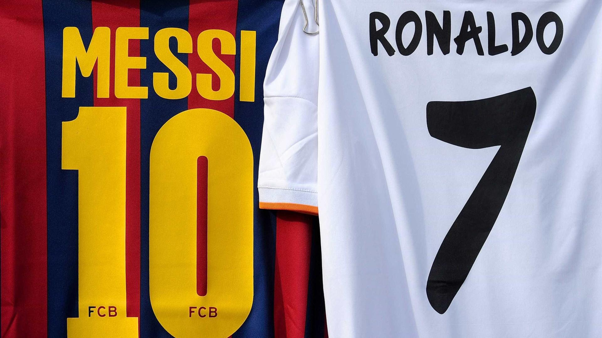 'El Clásico': Como se portam Ronaldo e Messi no frente-a-frente