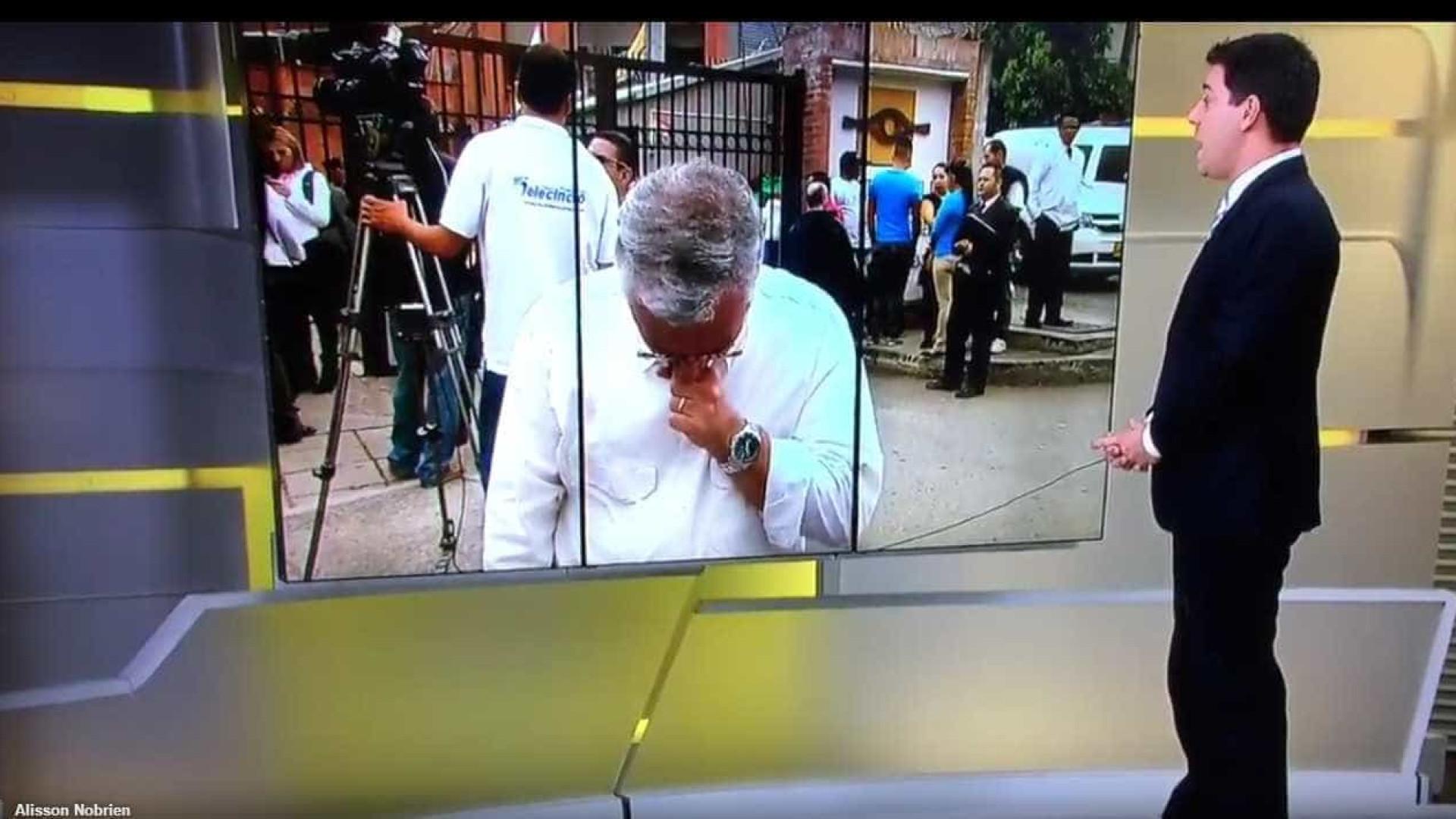 Chapecoense: Repórter não contém lágrimas em direto ao falar de colega