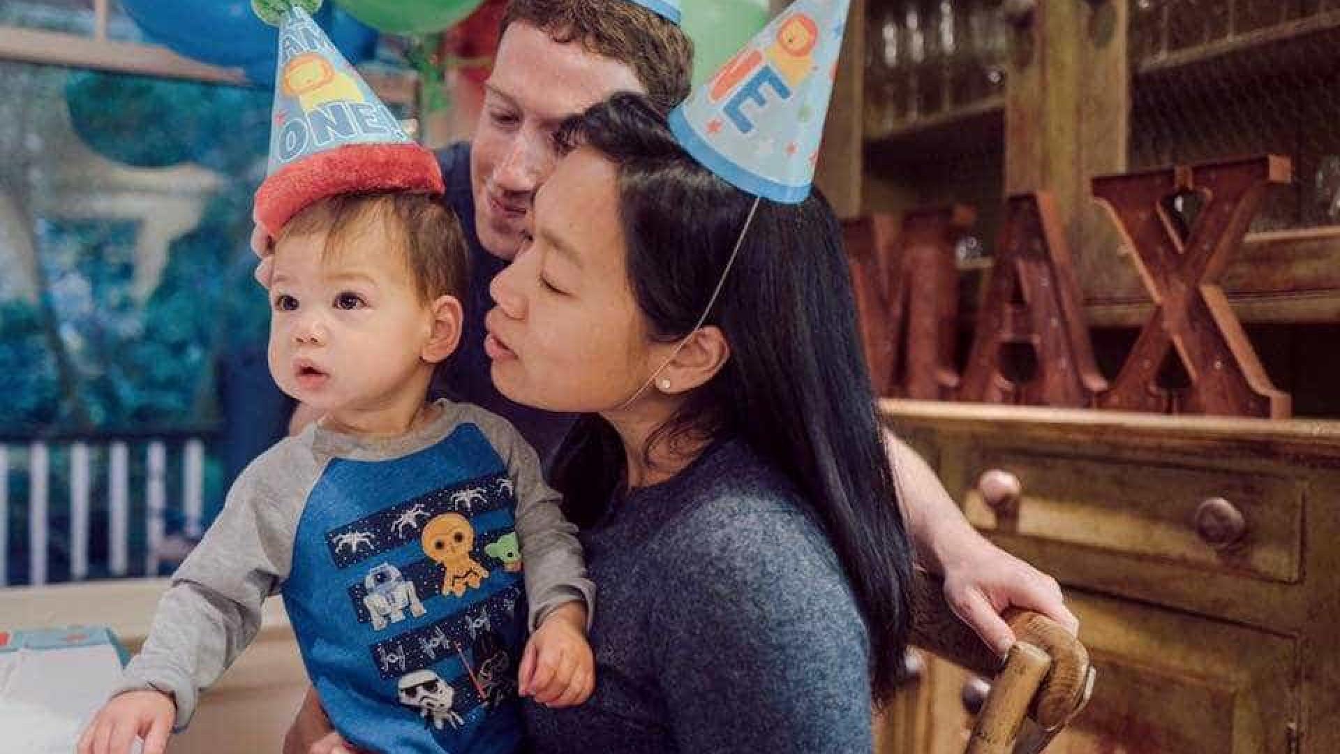 Mark Zuckerberg assinala o primeiro aniversário da filha