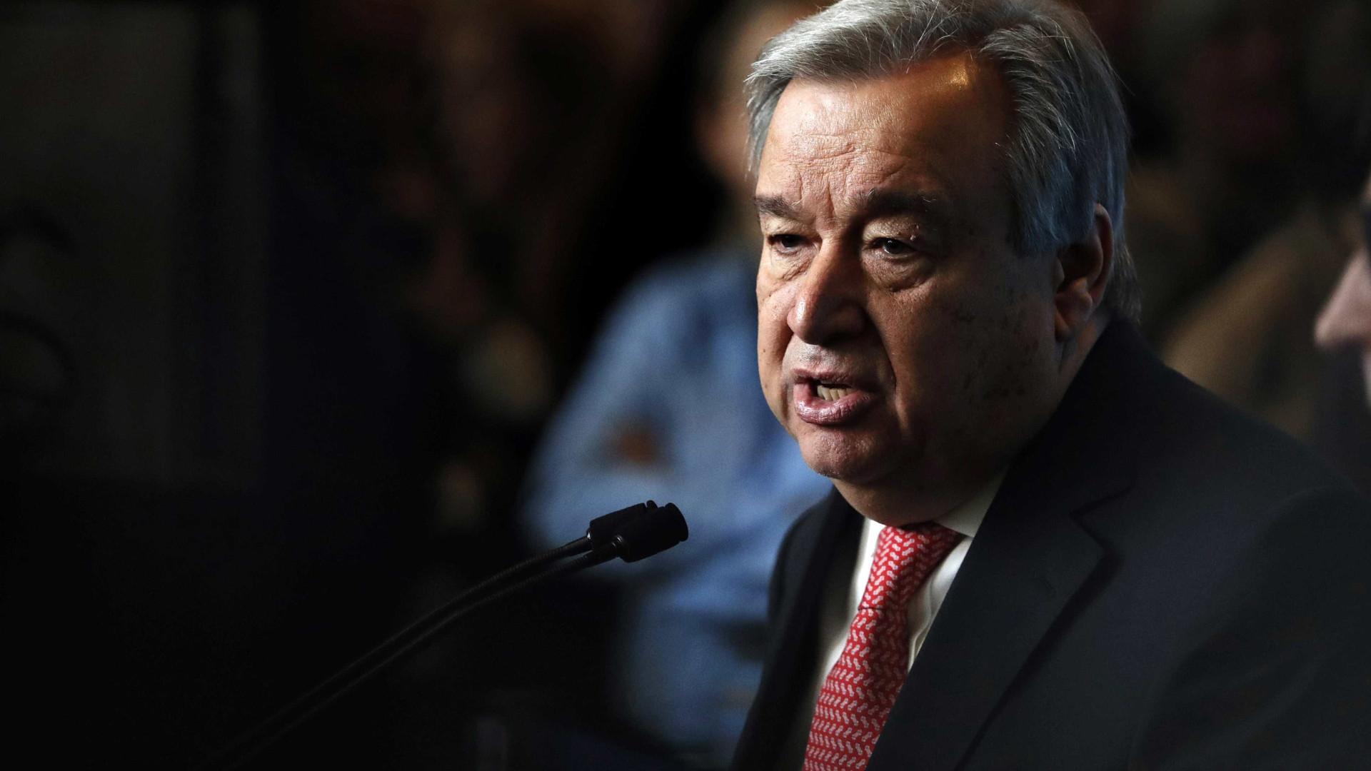 Guterres considera existir risco de guerra entre palestinianos e Israel