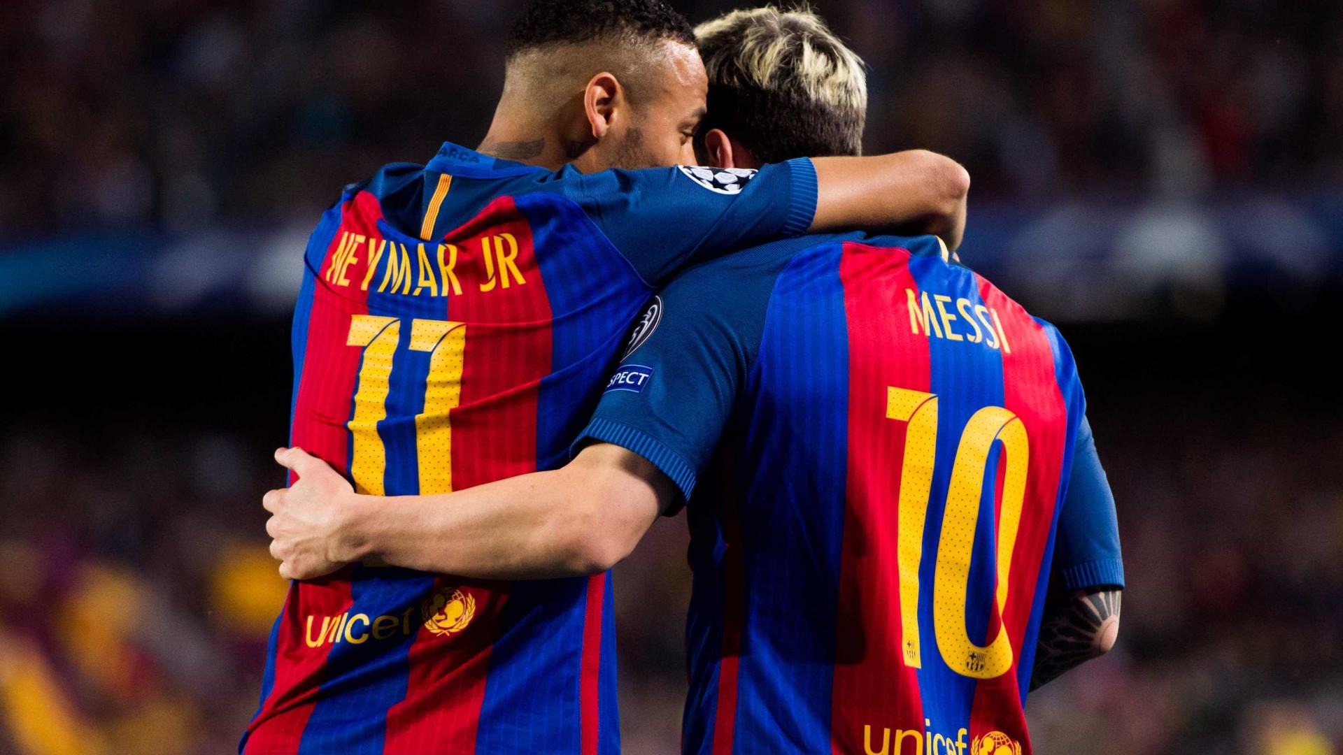 """Sport revela conversa entre Messi e Neymar: """"Eu faço-te Bola de Ouro"""""""