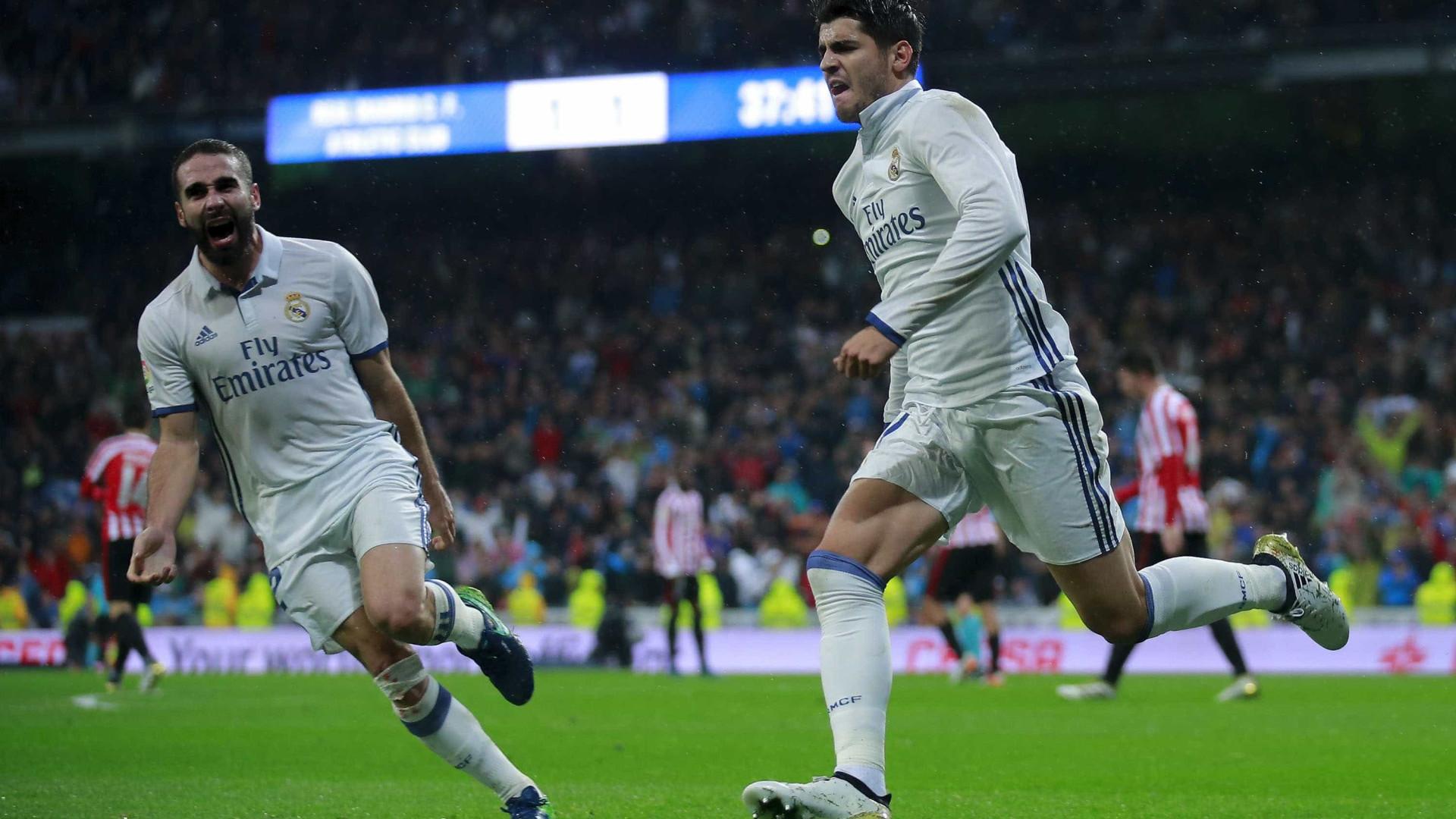Real Madrid: Morata e Danilo protagonistas na 'missão 100 milhões'
