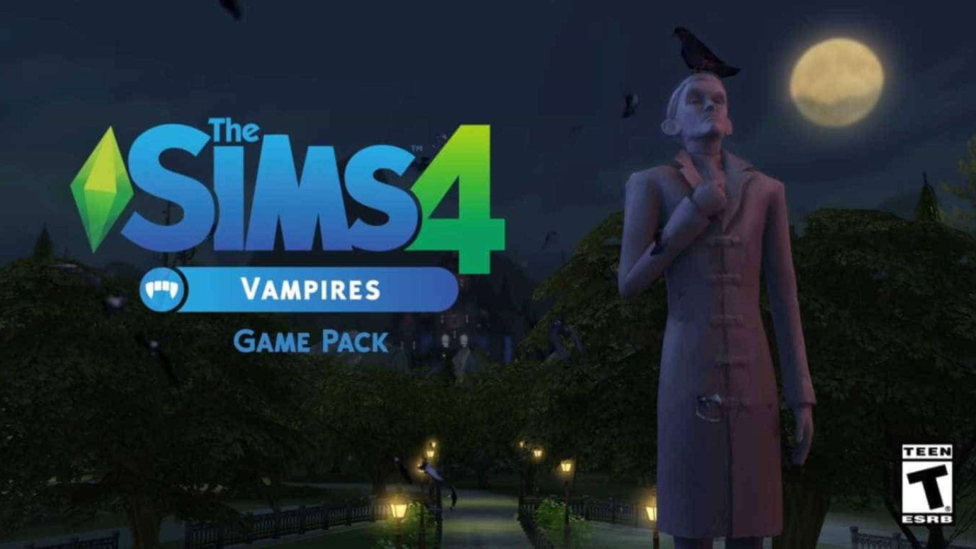 Vai ser mais fácil manter vivos os seus Sims. Prepare-se para vampiros