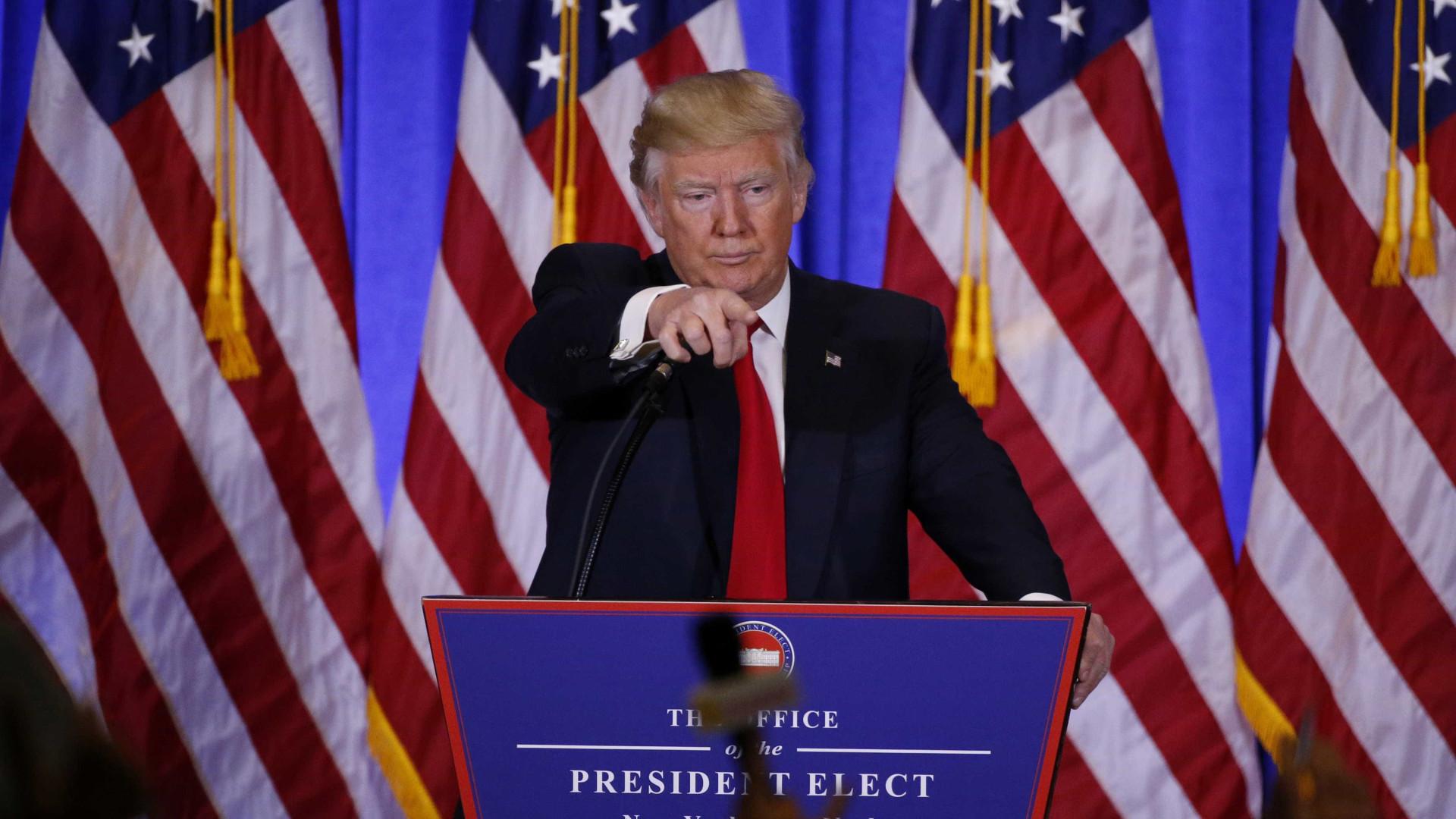 Vai mesmo haver muro e fim do Obamacare. Trump apresenta Trump Presidente