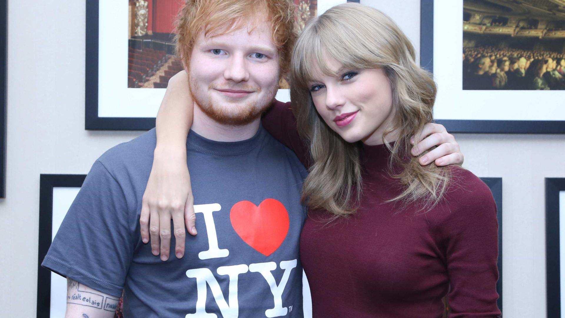 """Taylor Swift diz que Ed Sheeran é um """"lutador"""""""