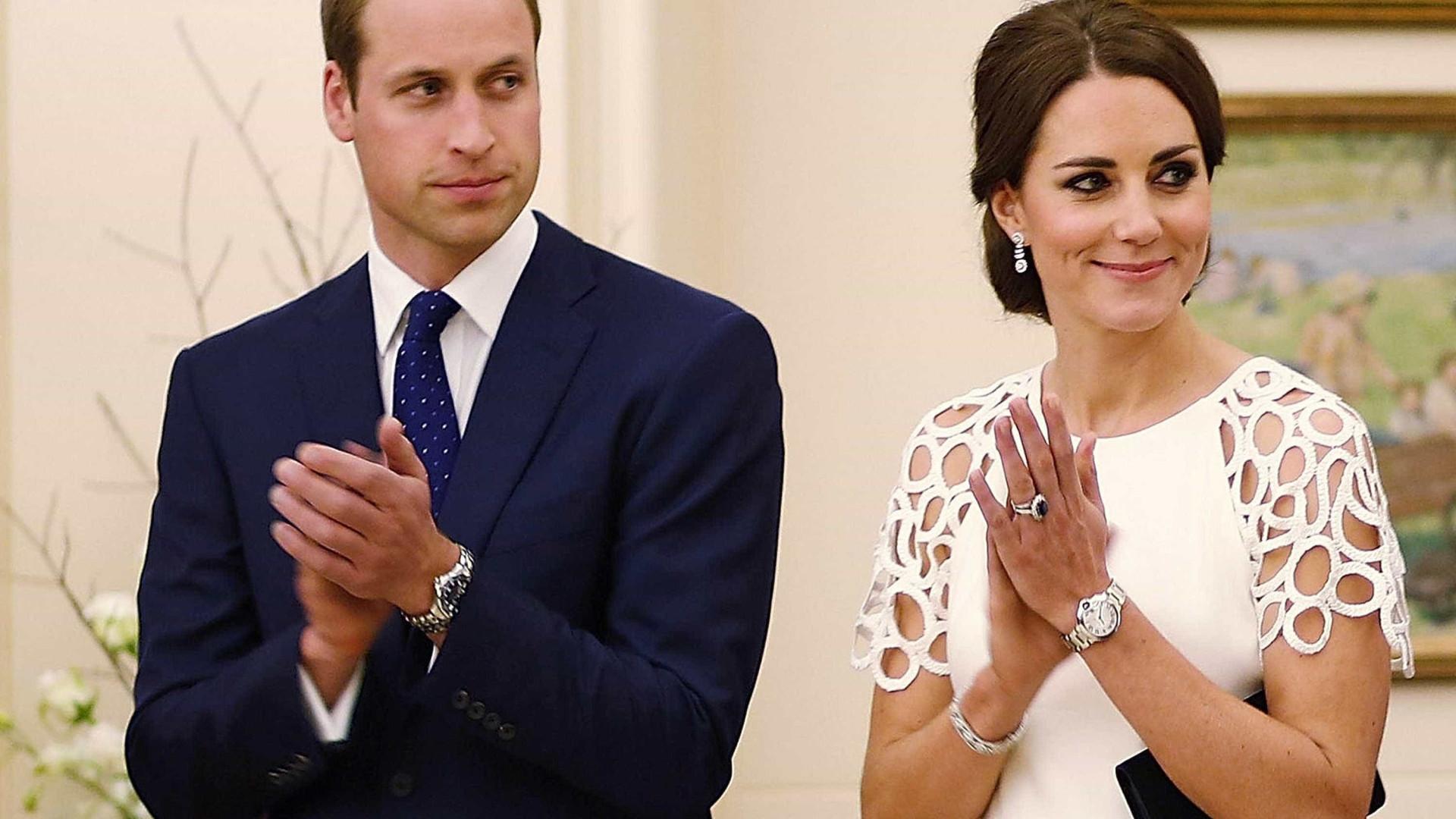 William e Kate vêem 'A Guerra dos Tronos' e saem à noite com Tinie Tempah