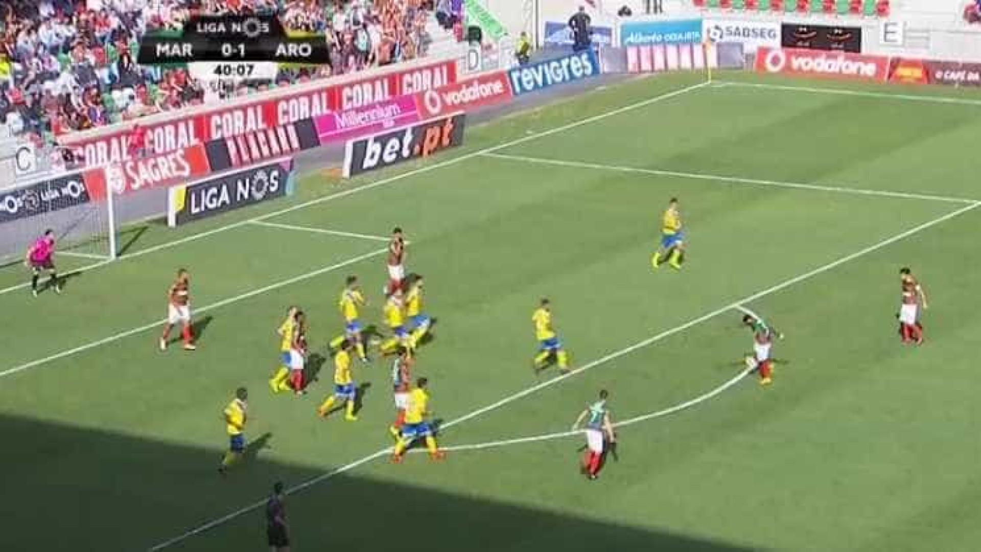 Zainadine disparou um autêntico 'rocket' e marcou o golo da jornada
