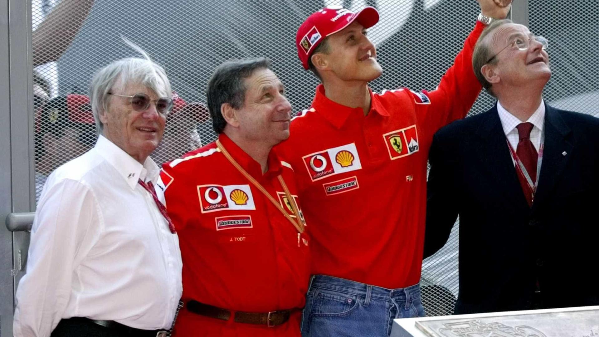 Ecclestone nunca visitou Schumacher desde o acidente e explicou o porquê
