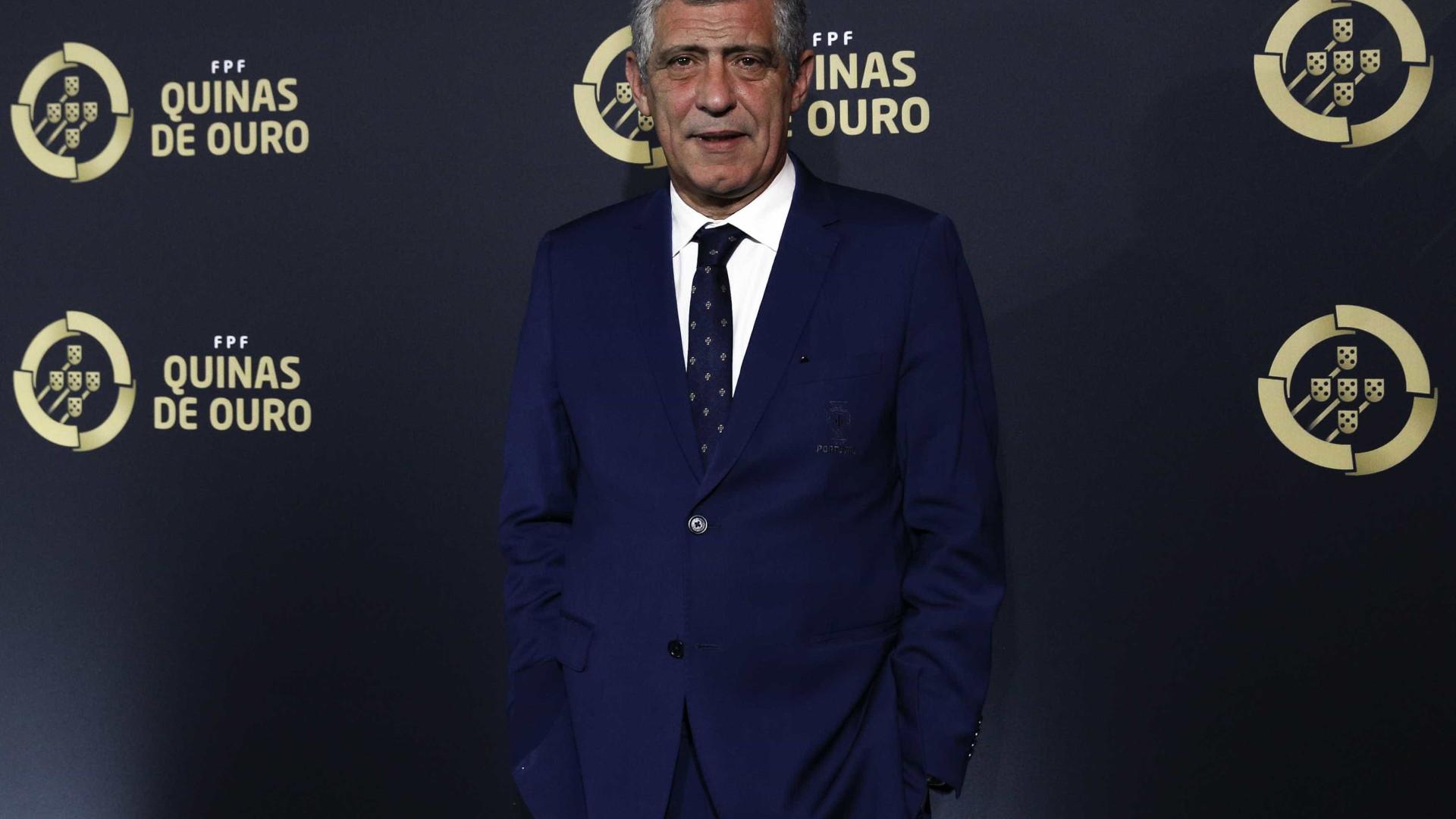 Fernando Santos eleito Treinador do ano na gala Quinas de Ouro