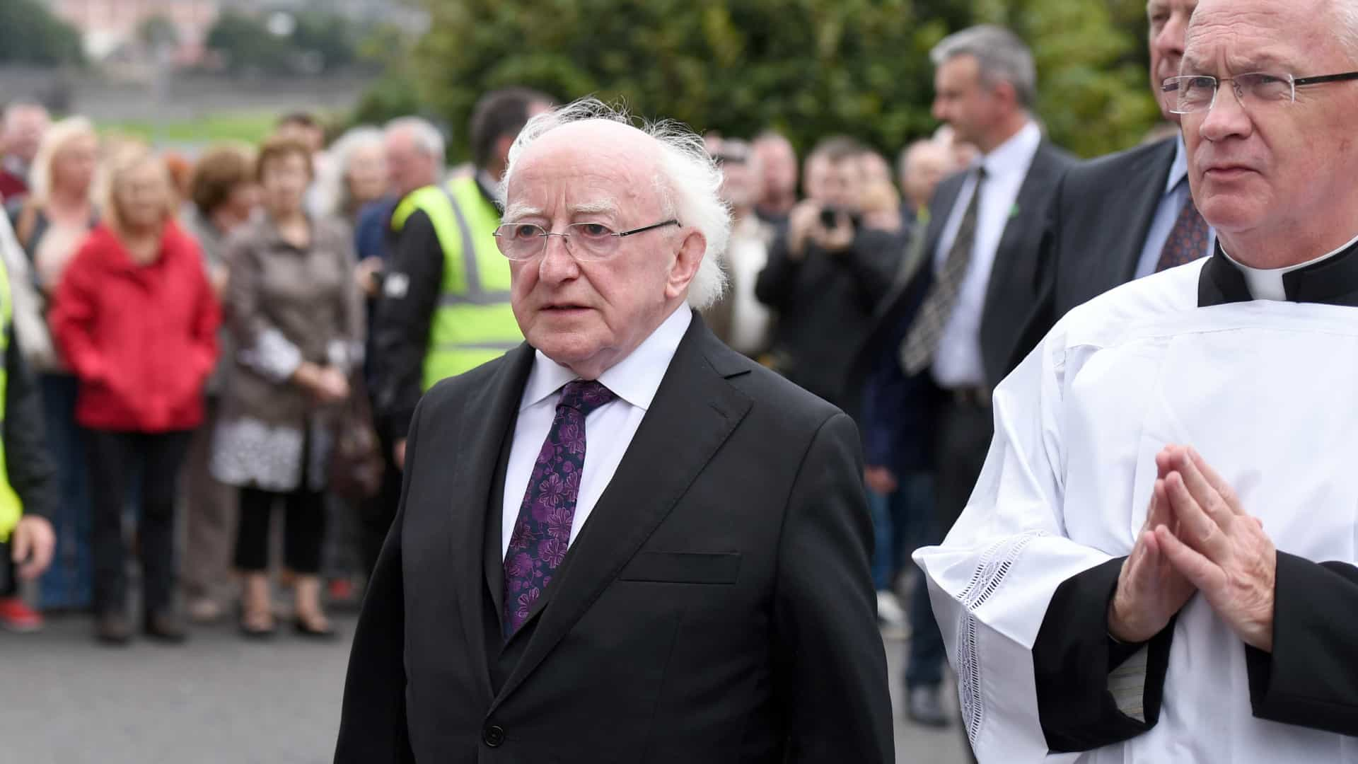 Presidente irlandês destaca liderança de Martin McGuiness
