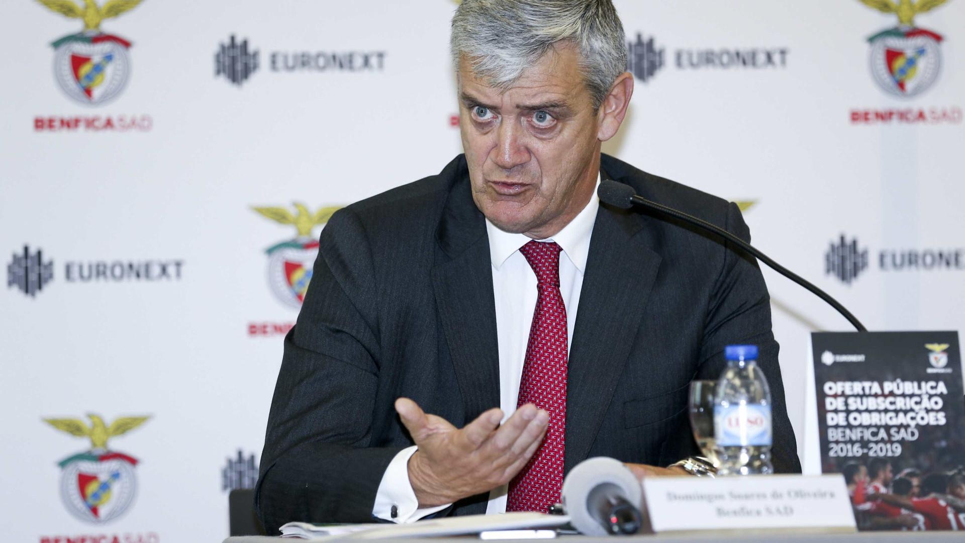 Benfica encaixa 45 milhões euros em mais um empréstimo obrigacionista