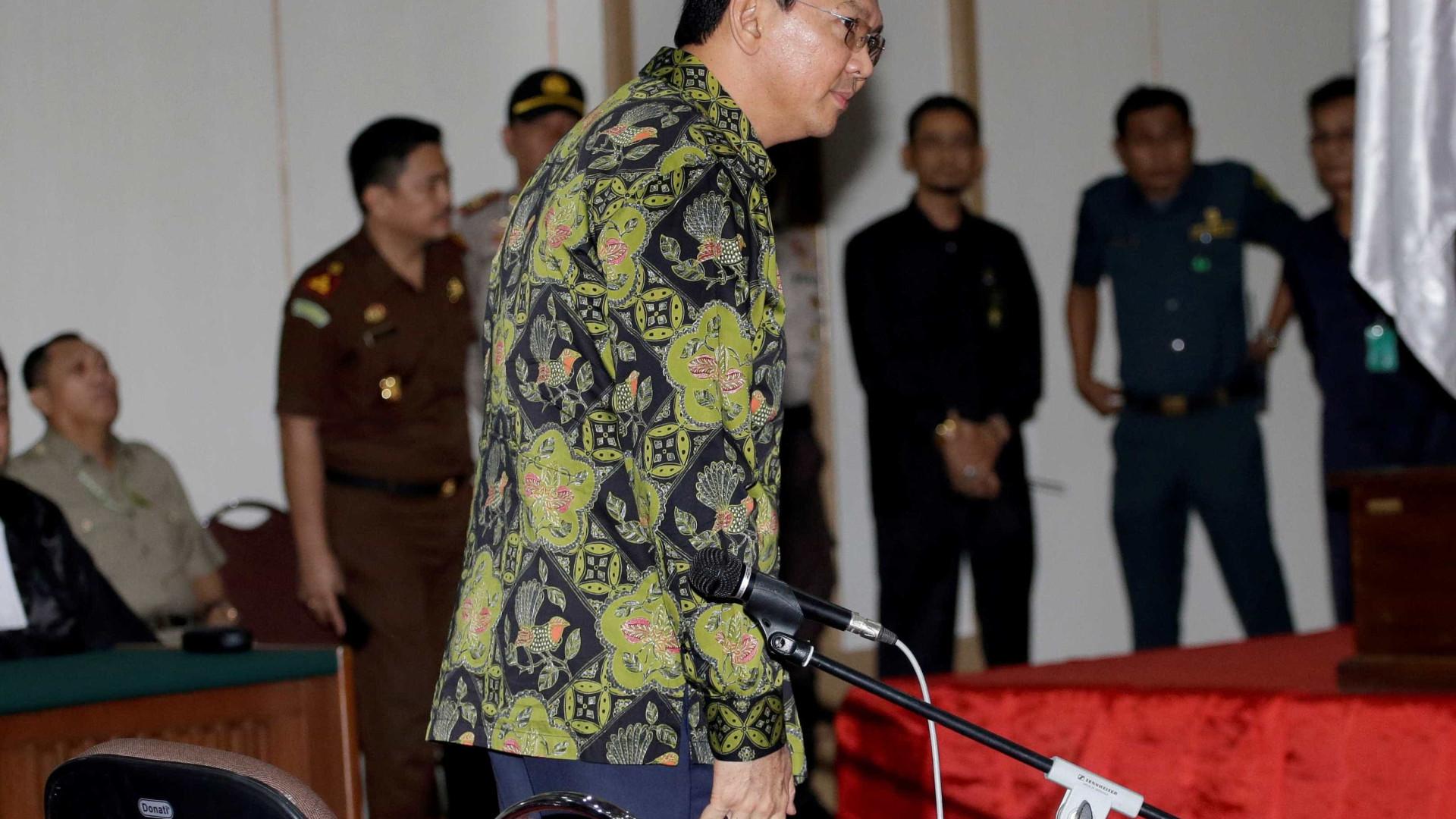 Justiça indonésia pede dois anos de liberdade condicional para governador