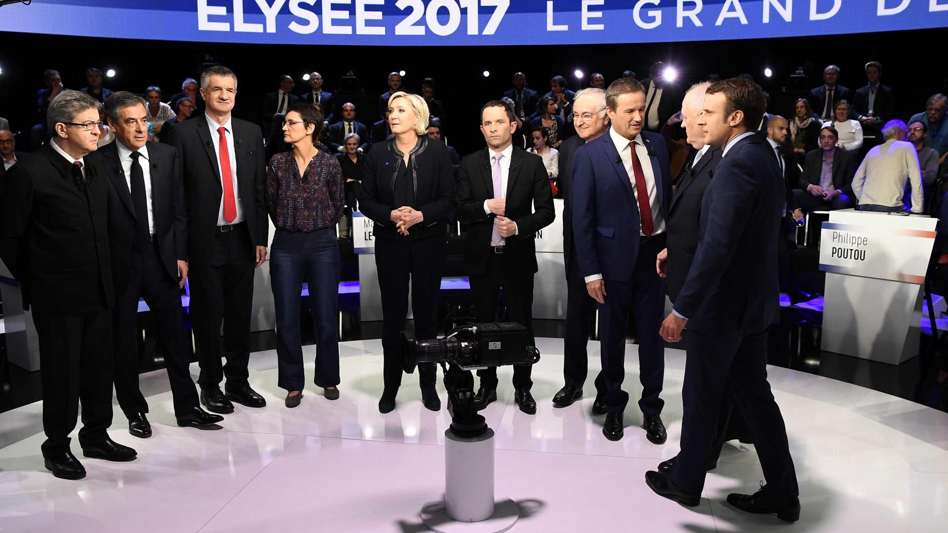 Os 'pequenos' candidatos, da esquerda à direita