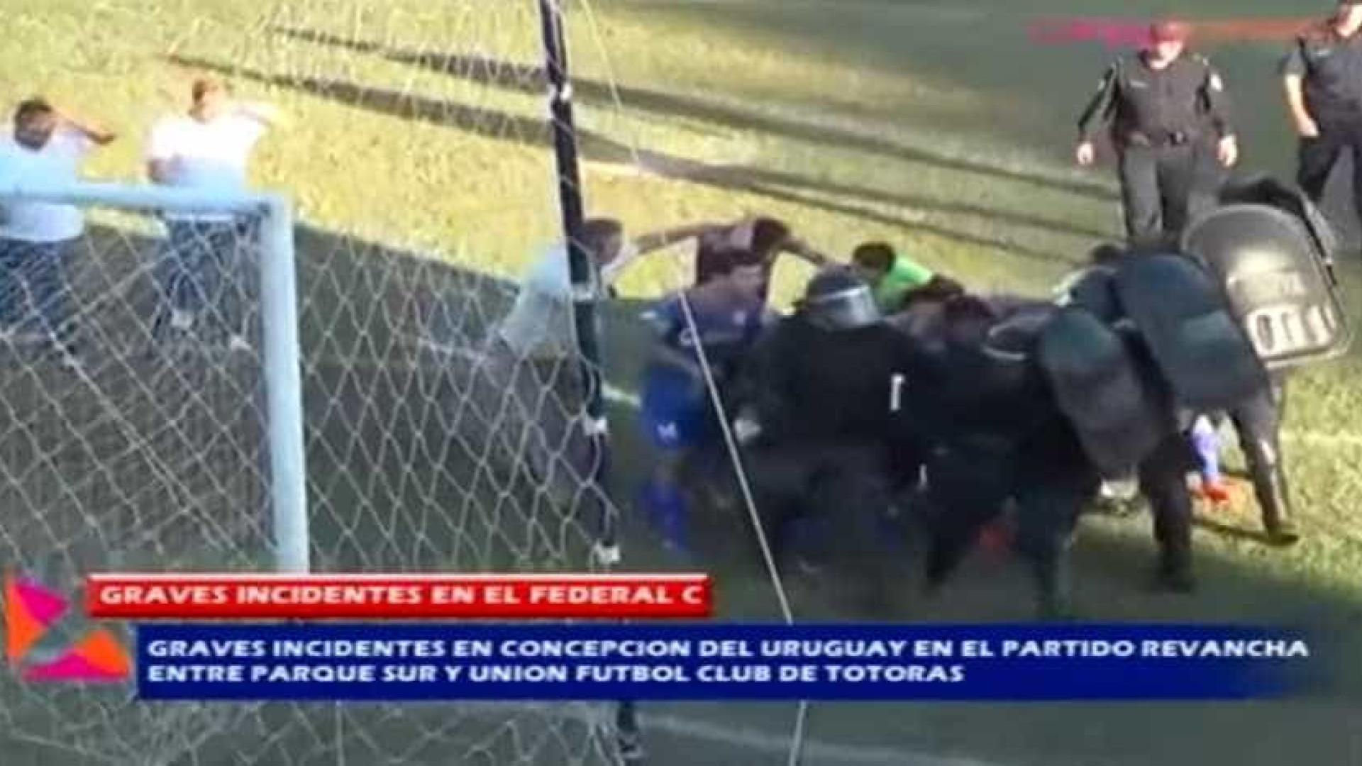 Socos, pedras e fogo: Violência sem limites no Parque Sur-Unión Totoras