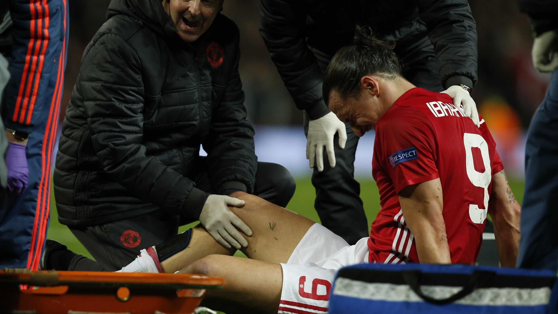 Lesão terá acabado com a temporada de Ibrahimovic