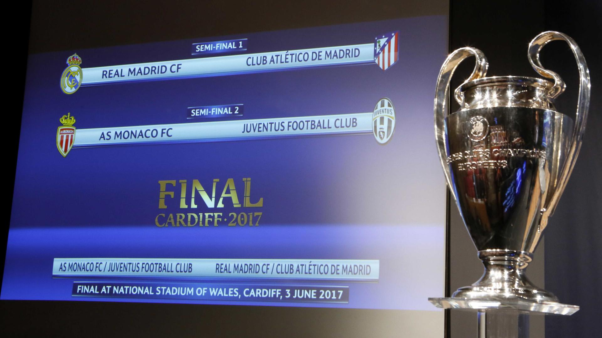 Liga dos Campeões: Real-Atlético nas meias-finais