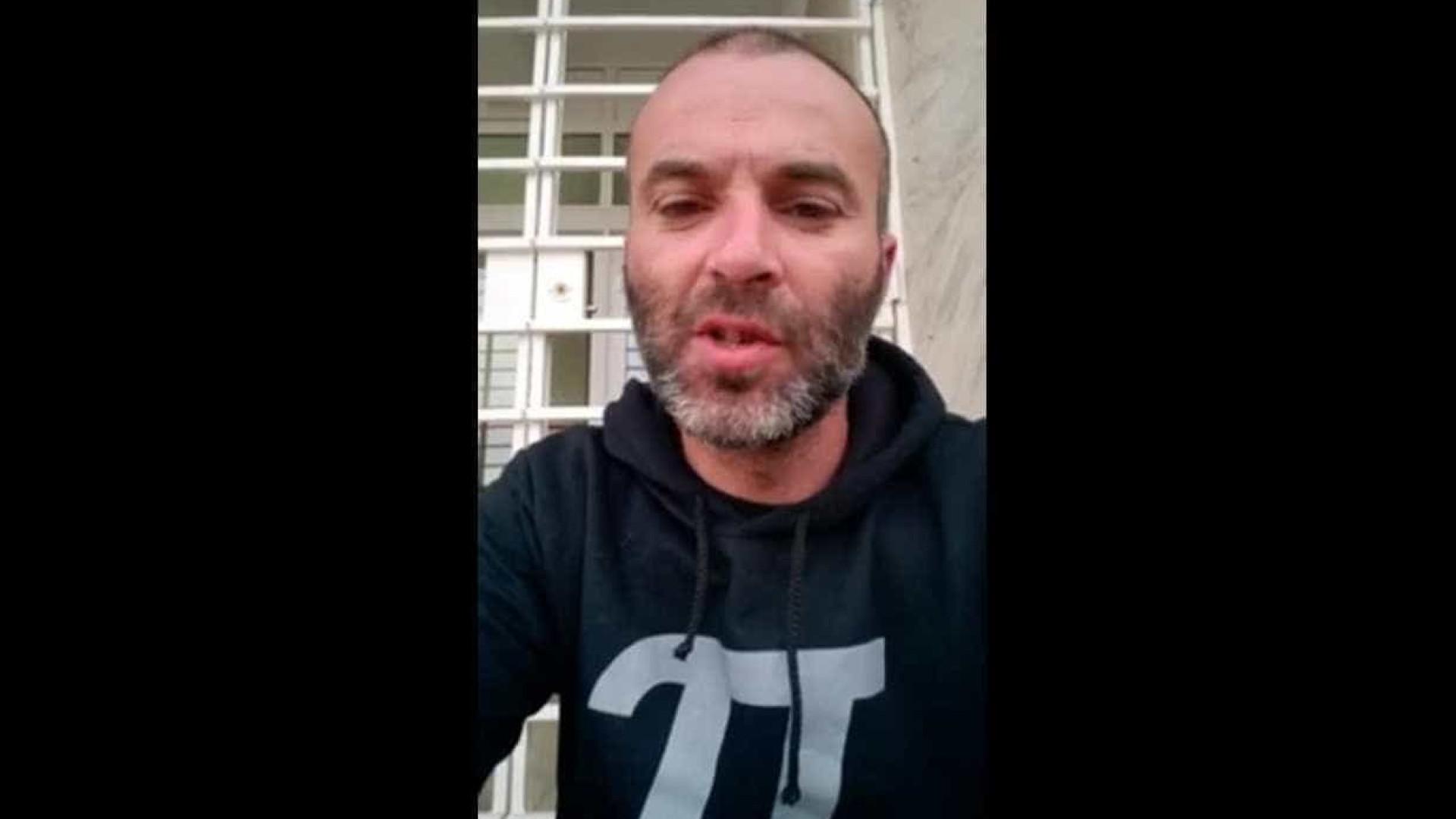 Internado pai que estava há dias em greve de fome à porta do tribunal