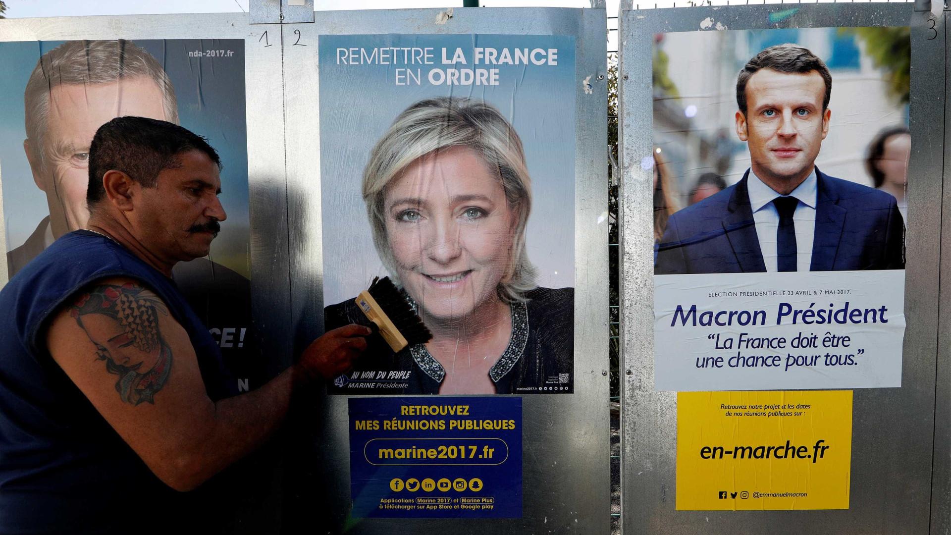 França: Nova sondagem coloca Macron à frente de Le Pen
