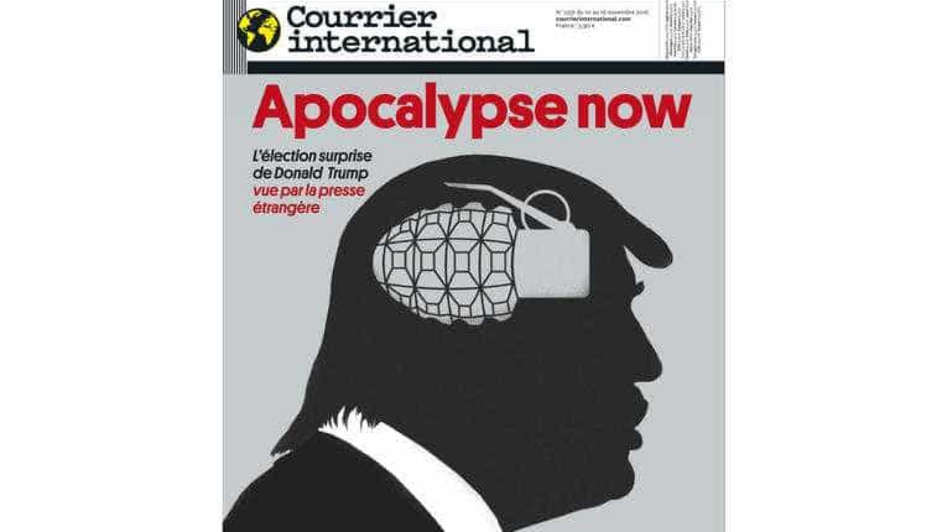 Eleição (surpreendente) de Trump 'vale' prémio à Courrier international