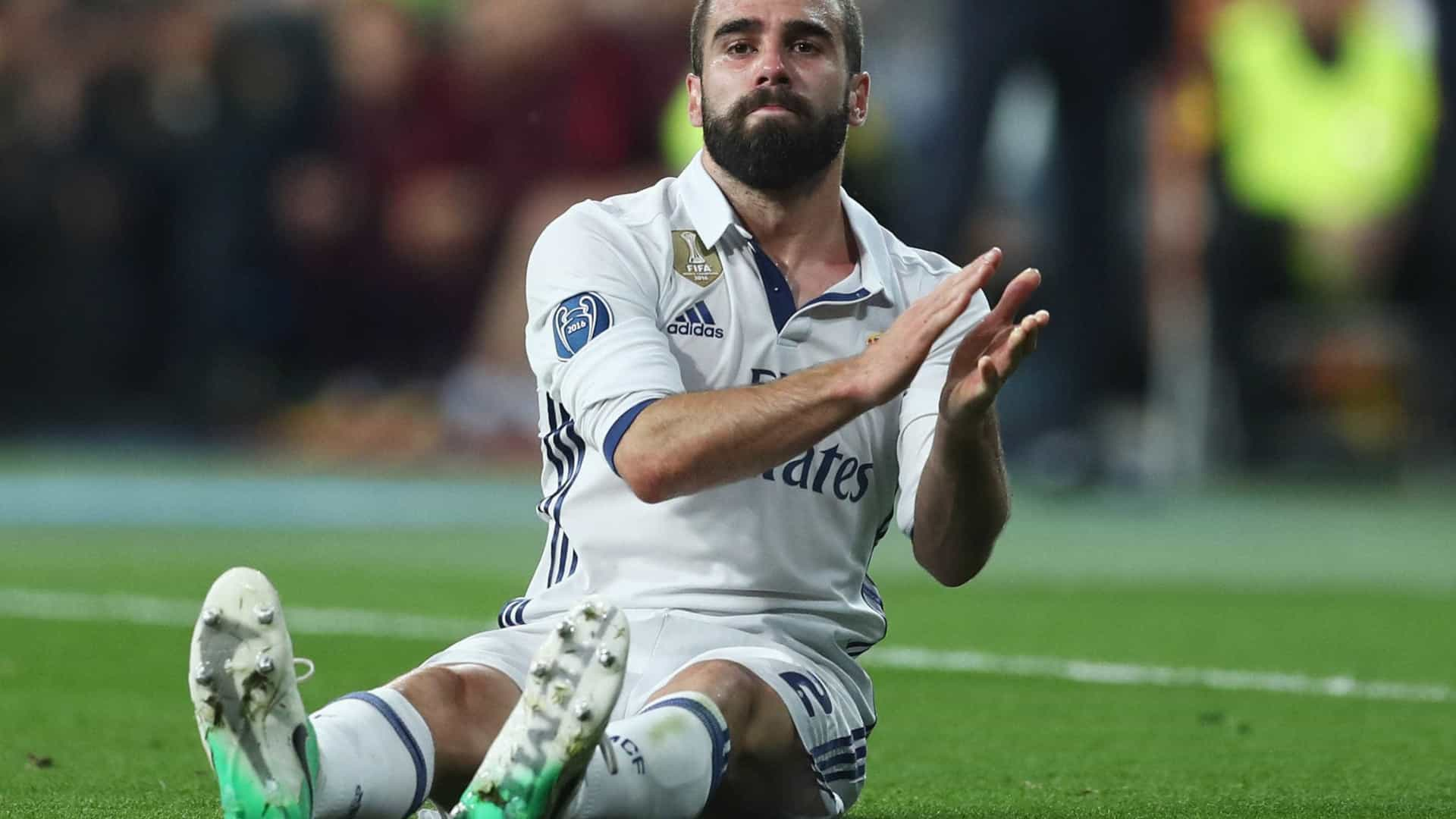 """Zidane pede """"paciência"""" com Carvajal: """"Com o coração não se brinca"""""""