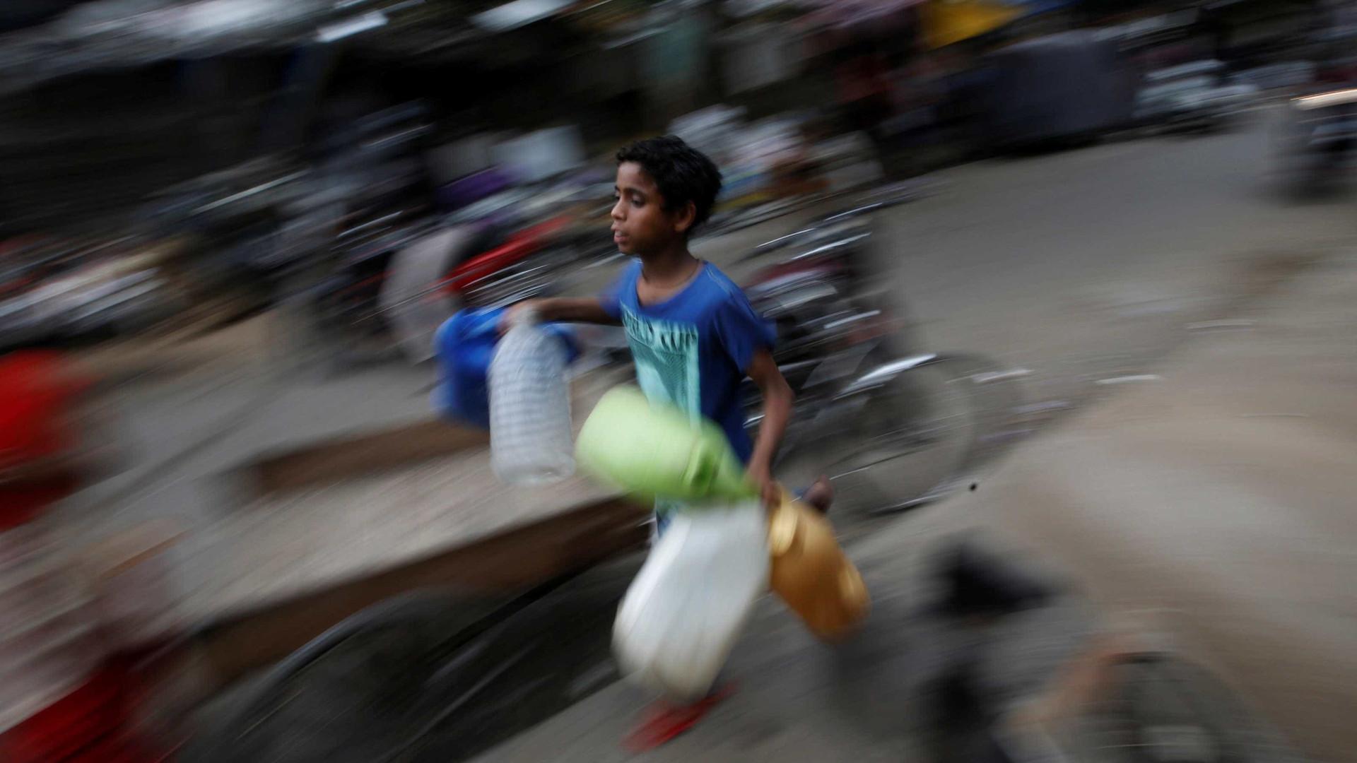 Índia: Cerca de 20% das crianças com menos de 5 anos desnutridas