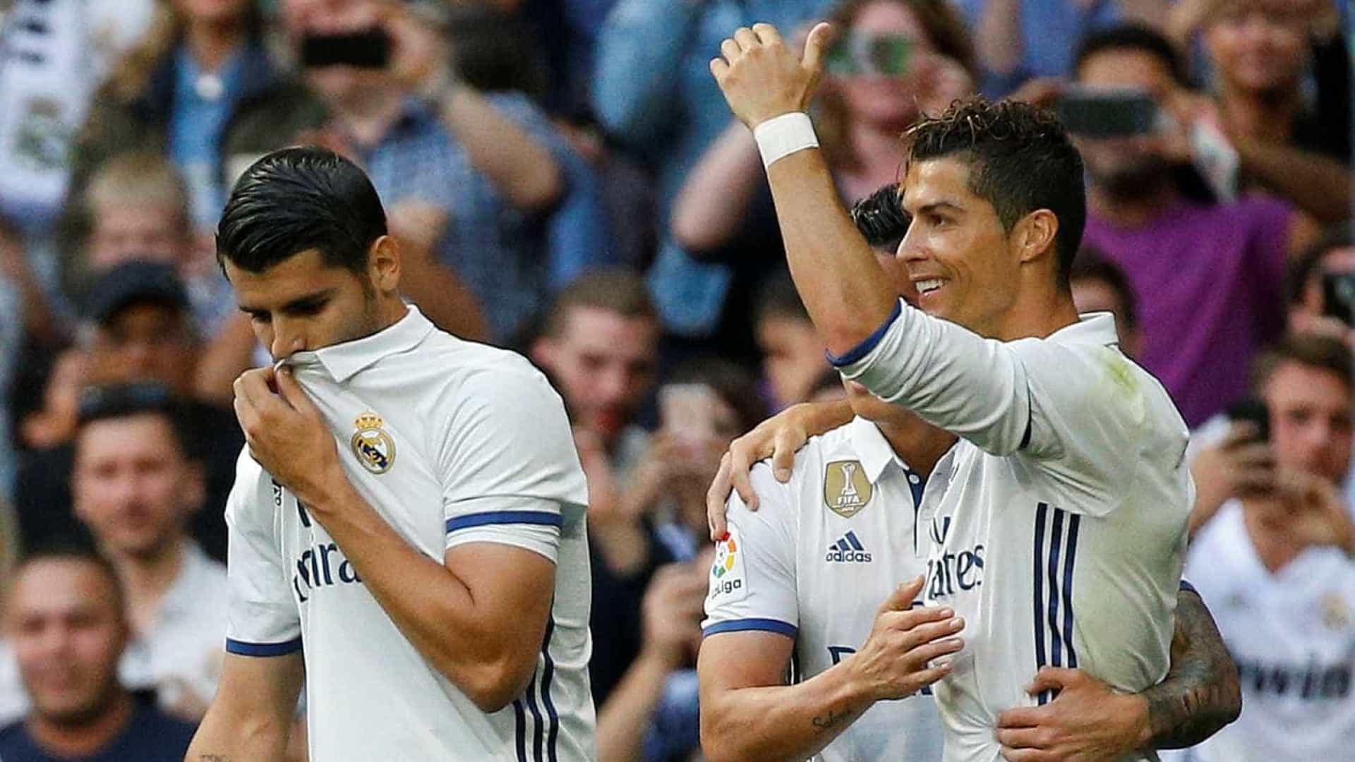 Ancelotti 'culpa' Cristiano Ronaldo pela falta de minutos de Morata