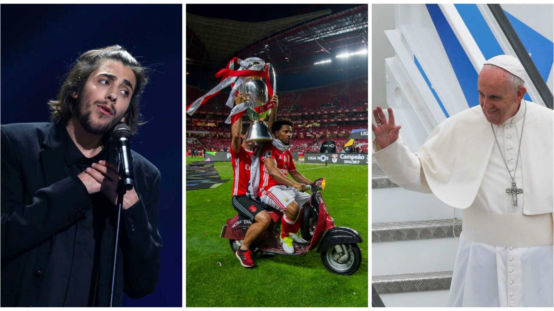 Salvador Sobral, Benfica ou Papa: Quem recebeu mais atenção online?