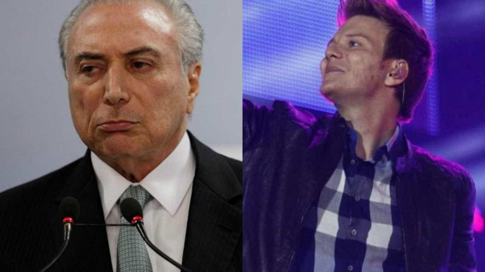 Internauta confunde Michel Teló com Temer e cantor brinca com a situação