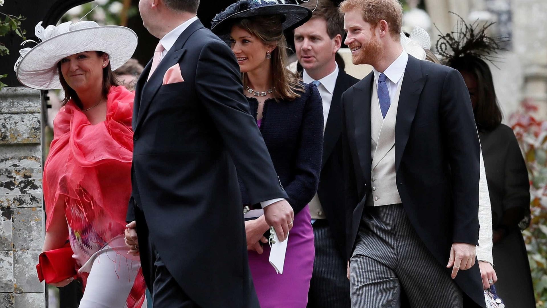 Por que é que a namorada de Harry não foi ao casamento de Pippa?