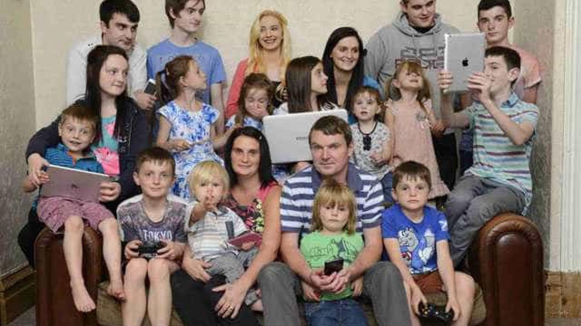 Maior família britânica prepara-se para o seu 20.º filho