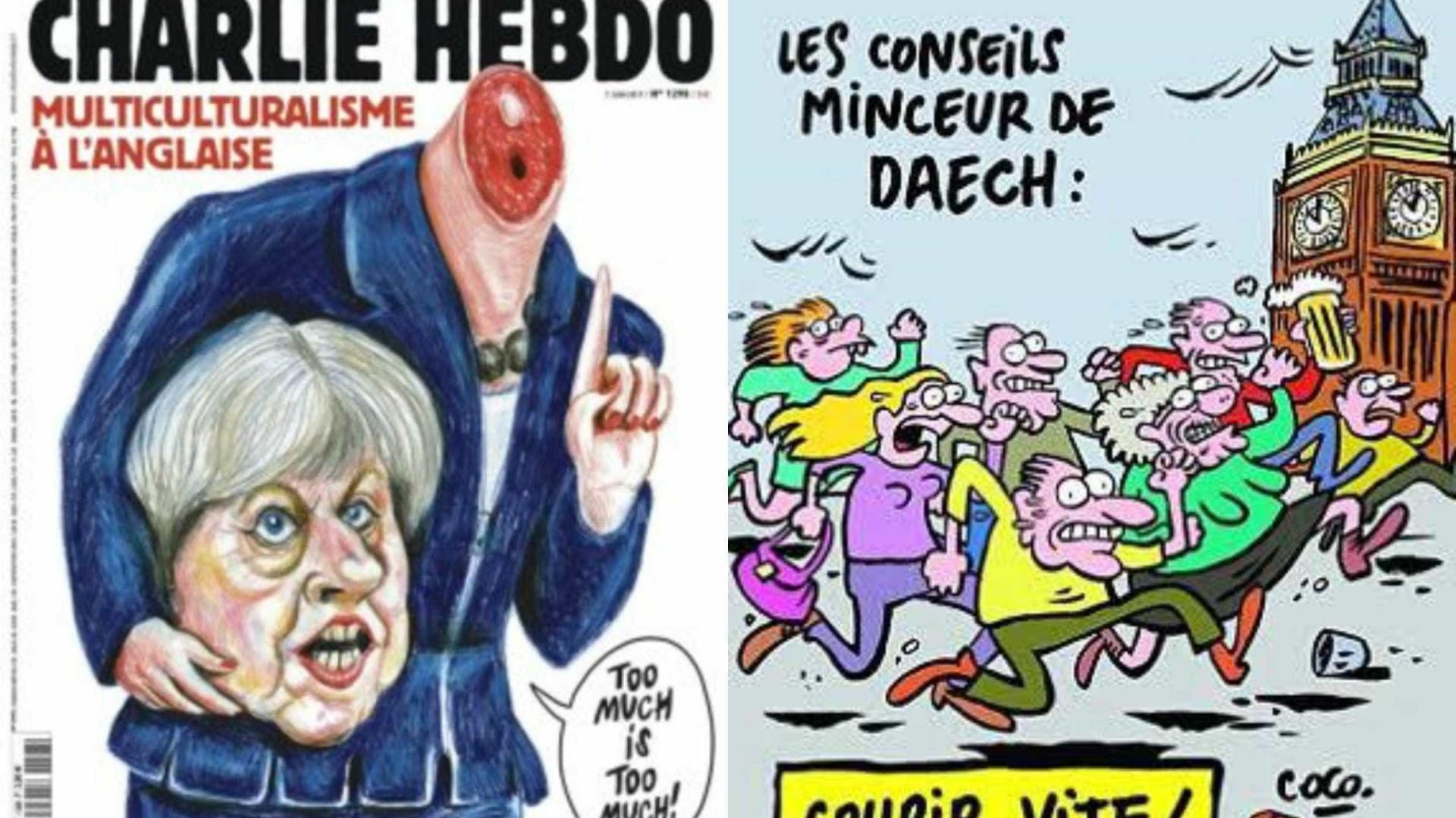 Theresa May decapitada: a mais recente polémica do Charlie Hebdo