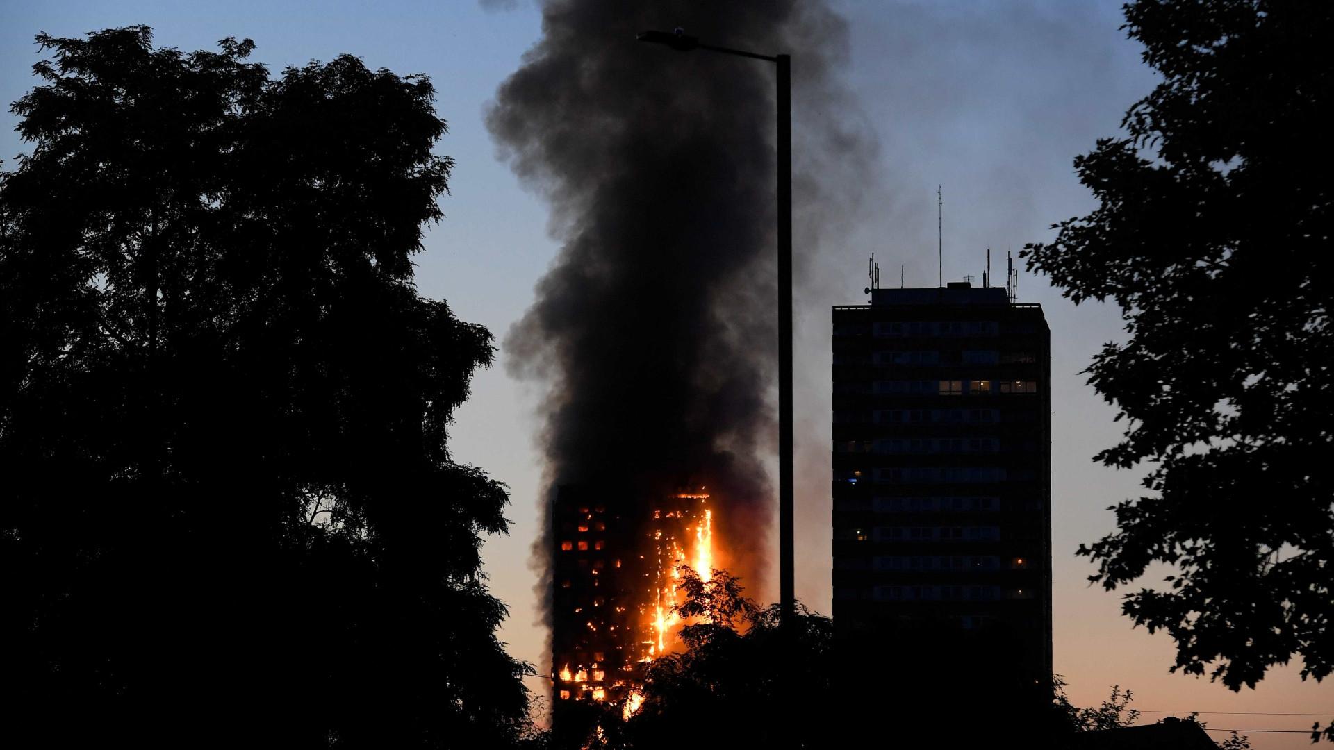 Família portuguesa localizada, duas crianças feridas — Incêndio Londres