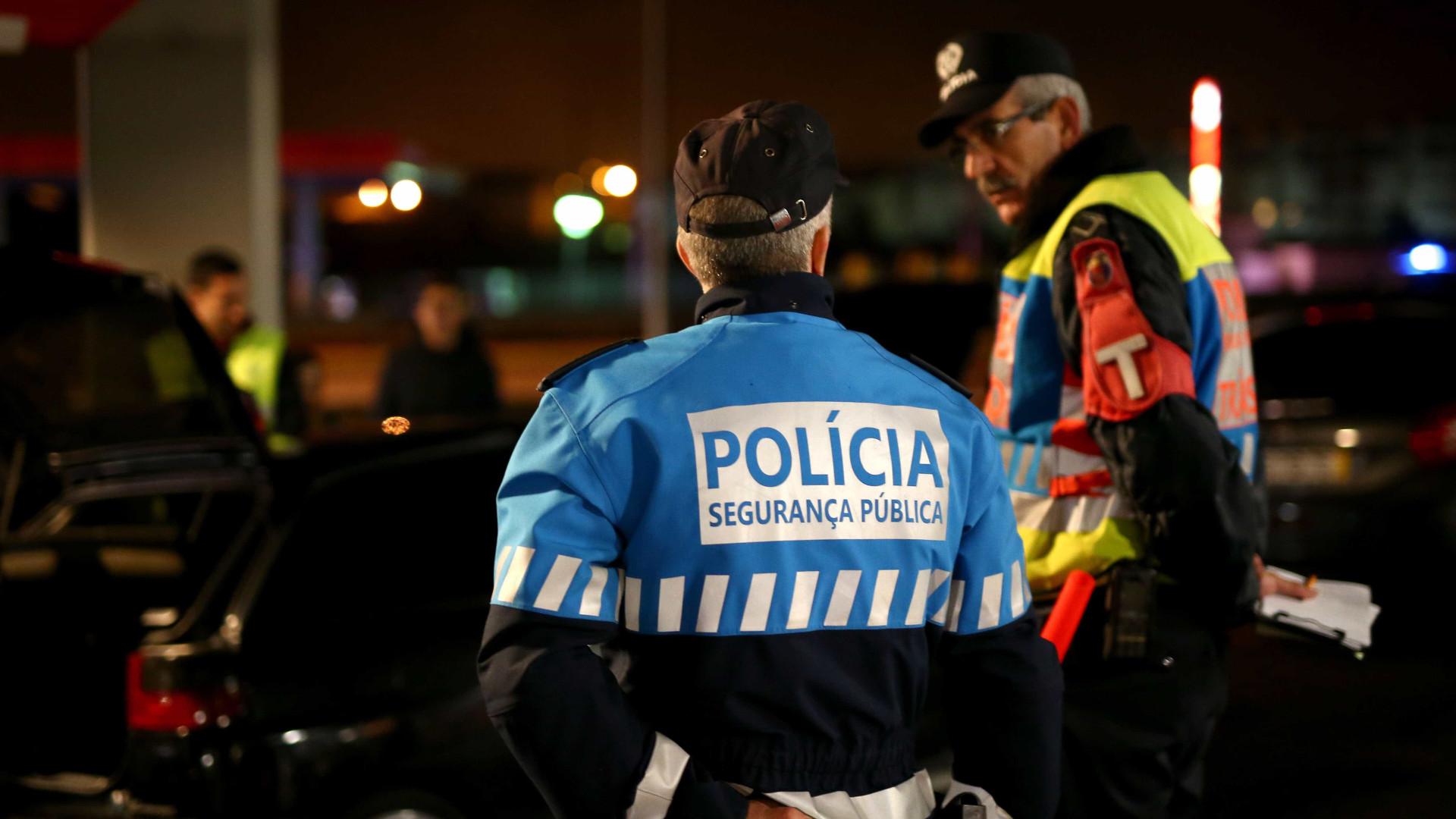 PSP deteve 44 pessoas em 24 horas, quase metade por condução com álcool