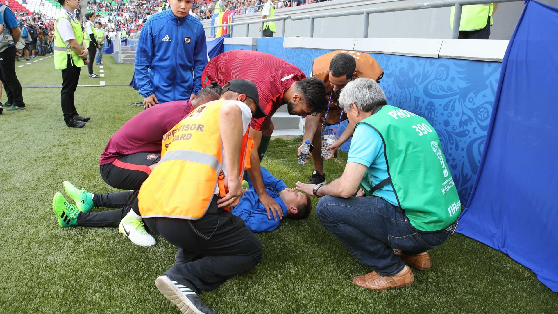 André Gomes atingiu jovem e foi prontamente em seu auxílio