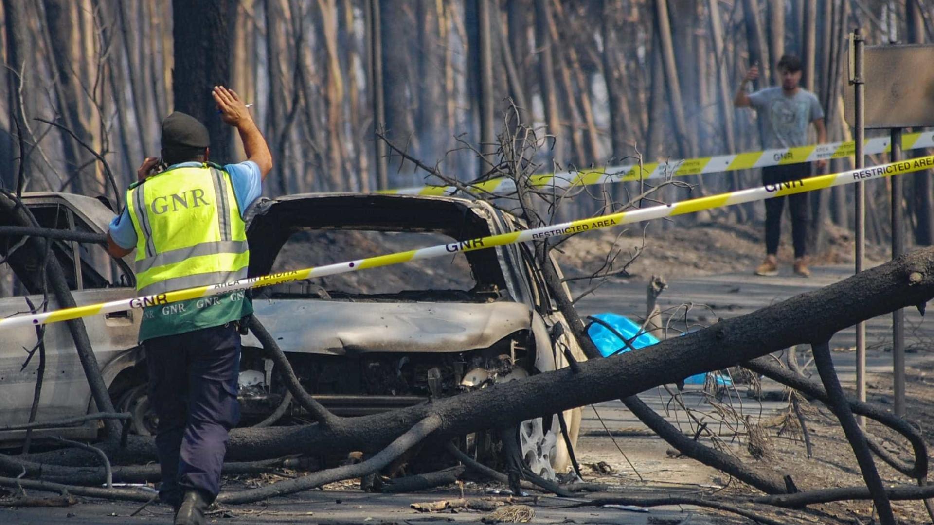 Distritos afetados pelo fogo vão continuar com temperaturas altas e vento