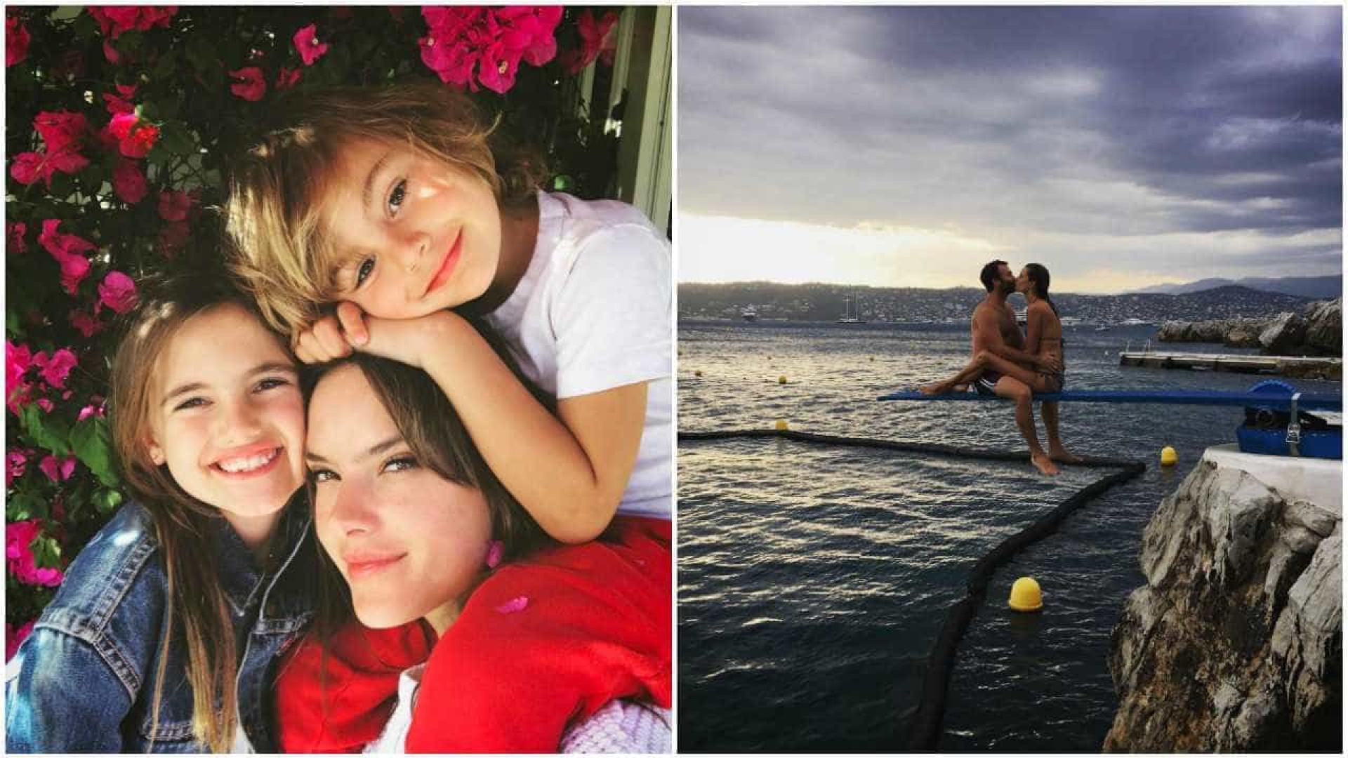 Alessandra Ambrósio celebrou o Dia do Pai com a família