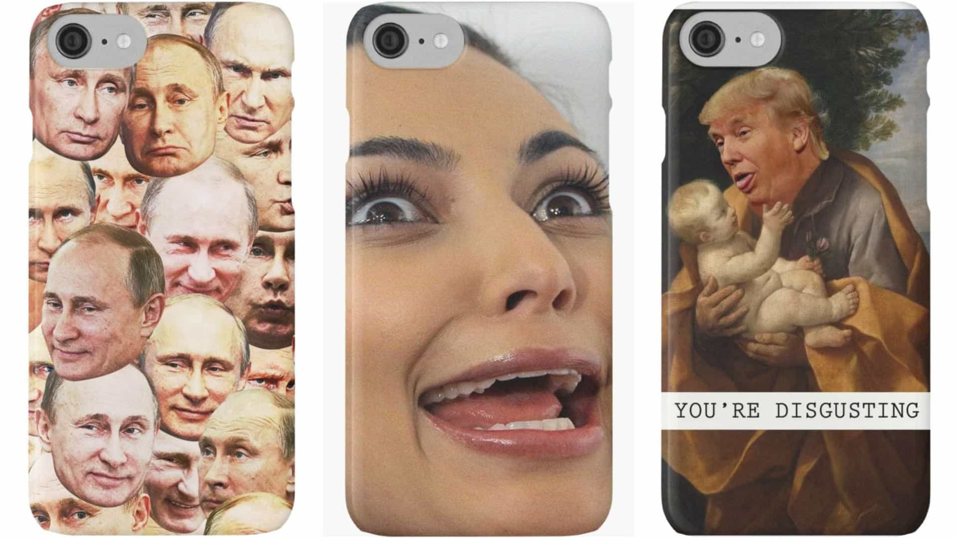 Capas de telemóvel com caras de celebridades? Estas são as mais bizarras
